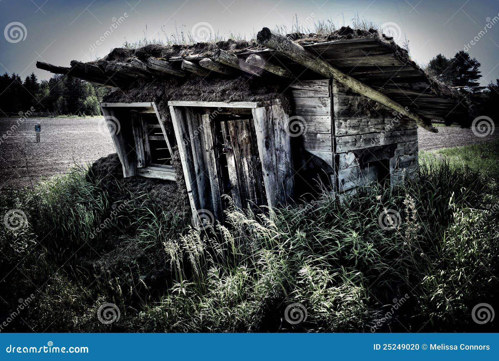 Barraca com telhado do Sod