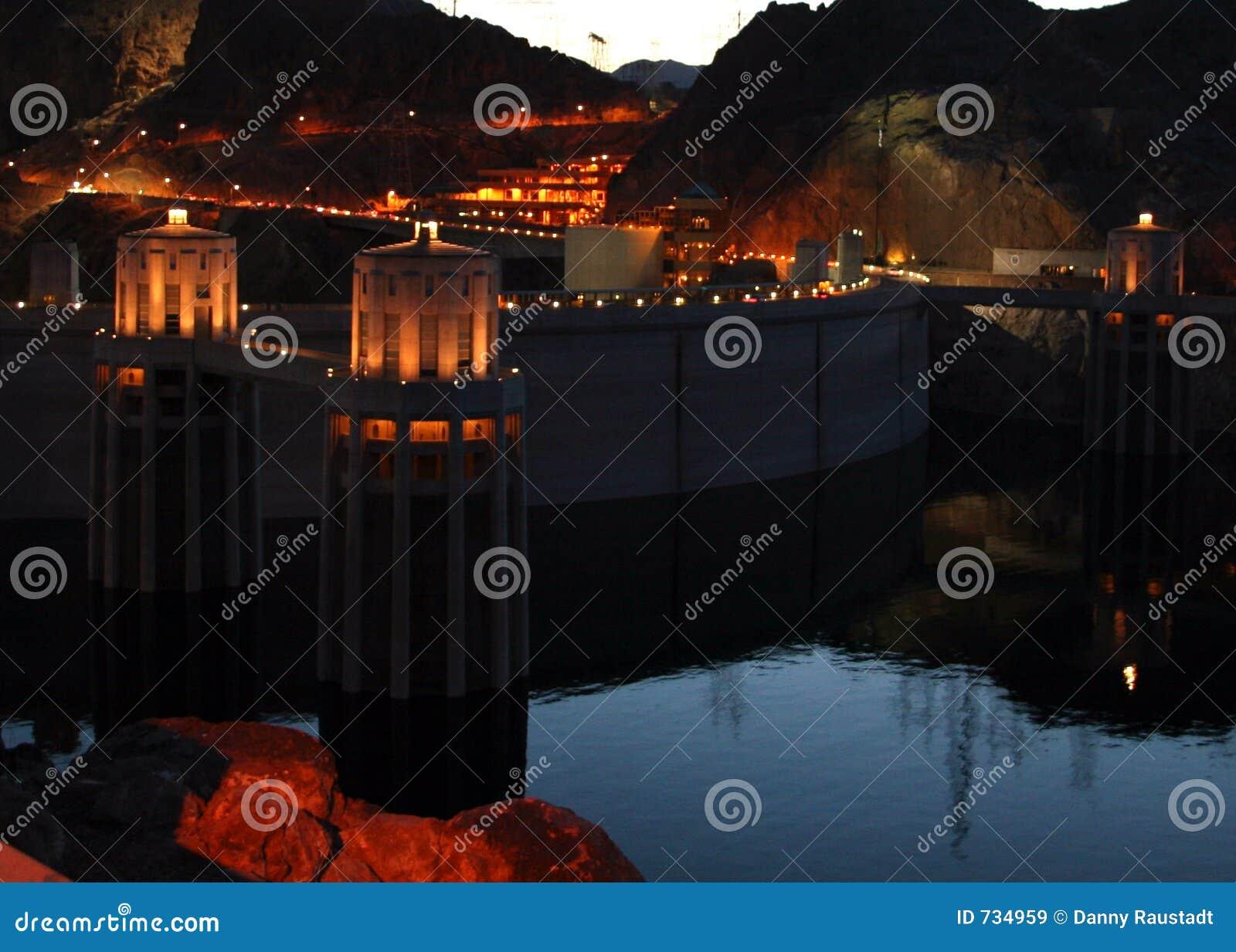 Barrage de Hoover la nuit 2