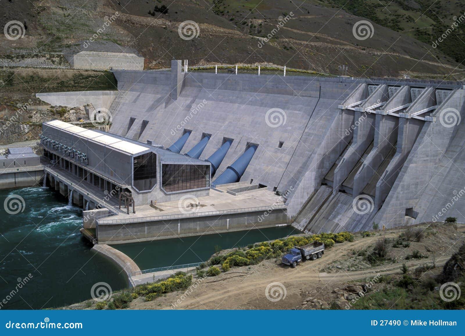 Barrage hydraulique, Nouvelle Zélande.