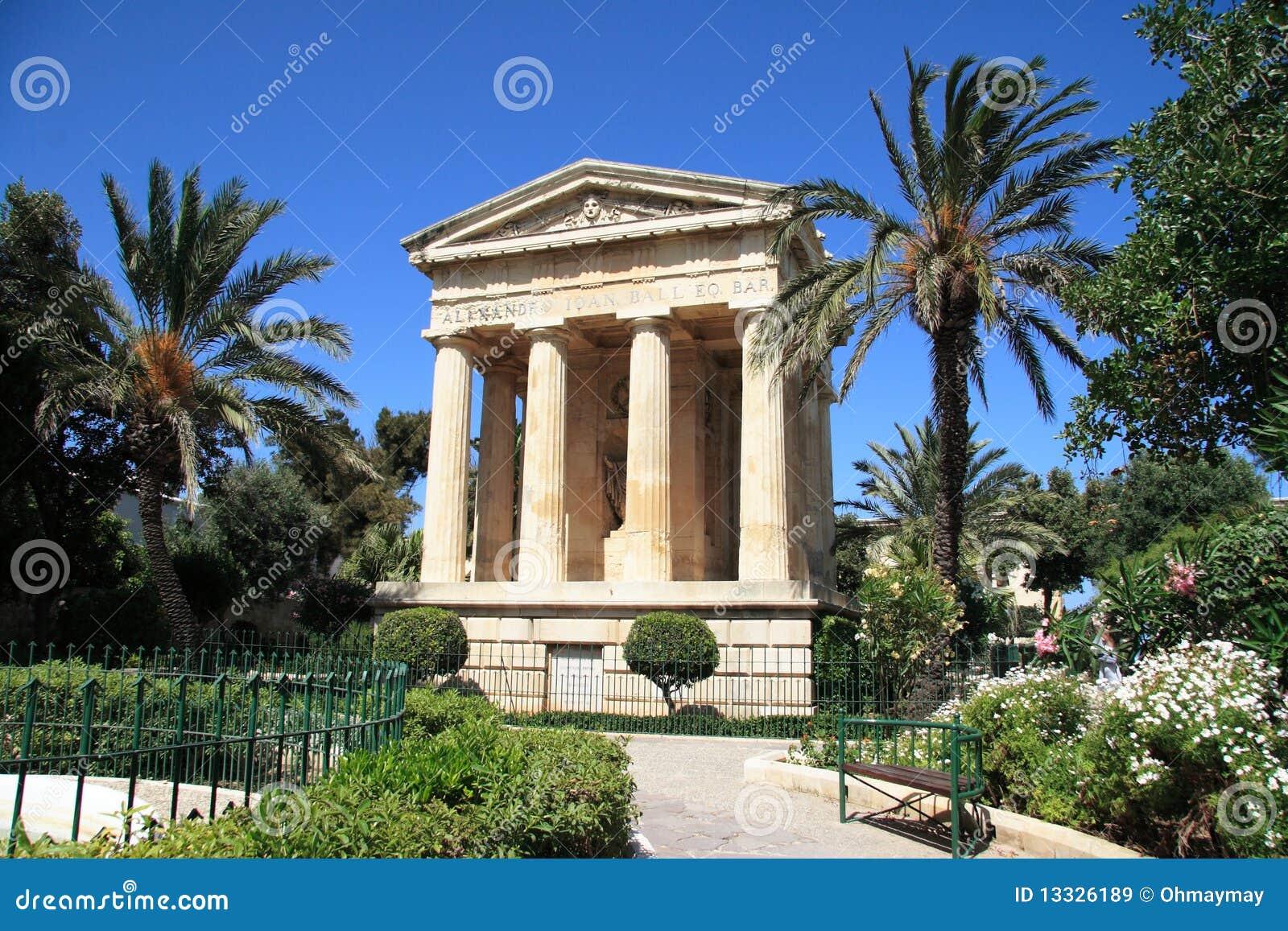 Barrakka ogrodowy Malta wierzch Valletta