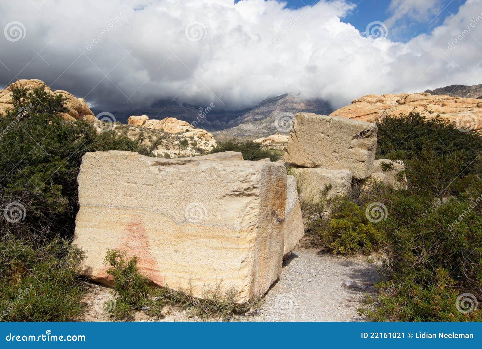 Barranca Mina-Roja NCA de la roca de la piedra arenisca