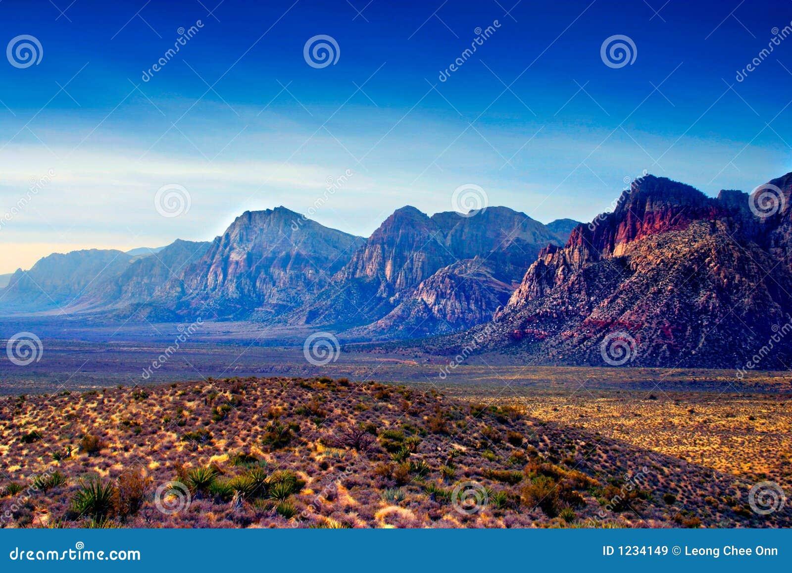 Barranca roja de la roca, Nevada