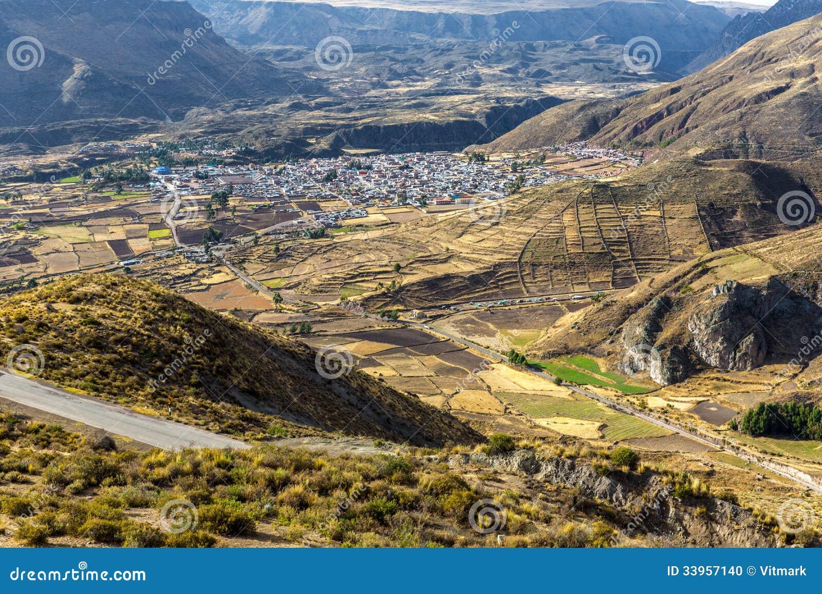 Barranco De Colca Perú Suramérica Los Incas Para Construir