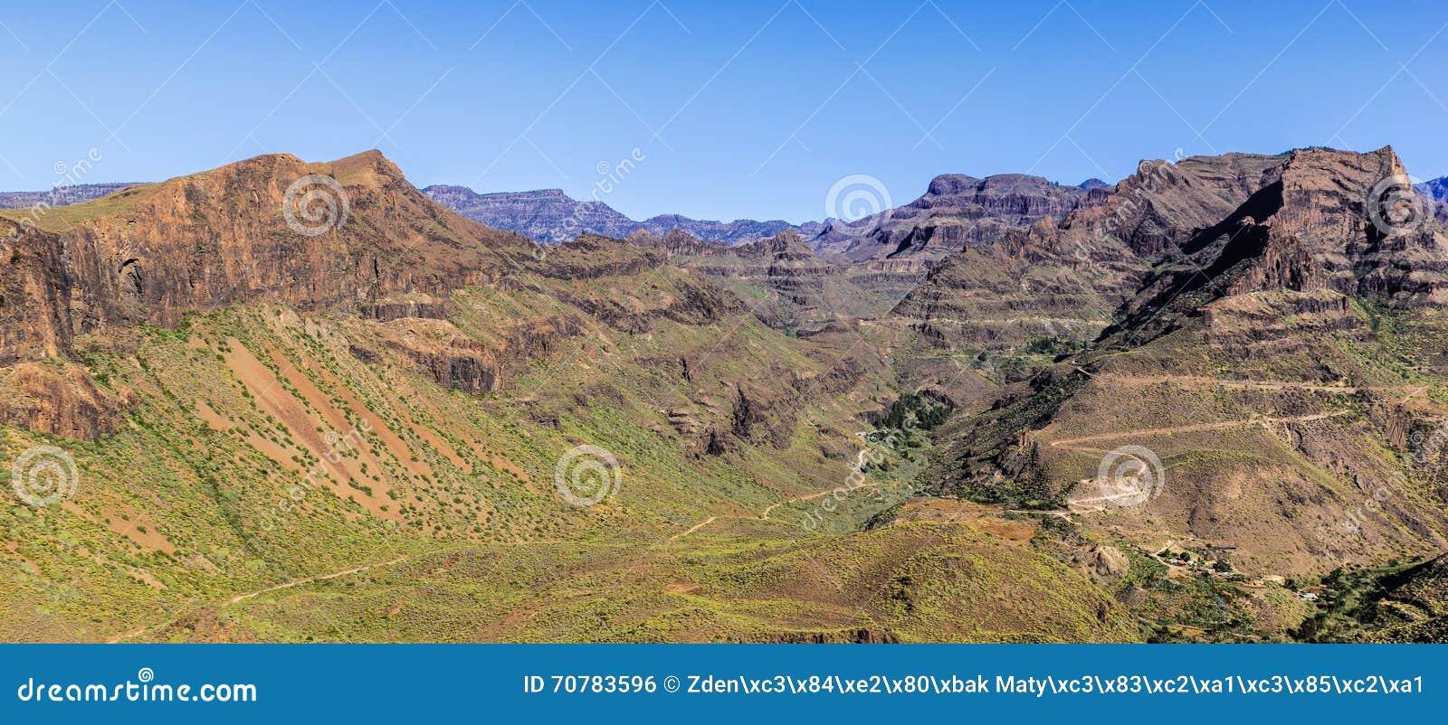 Barranco De Guayadeque - Gran Canaria, Spanien Stockfoto - Bild: 70783596