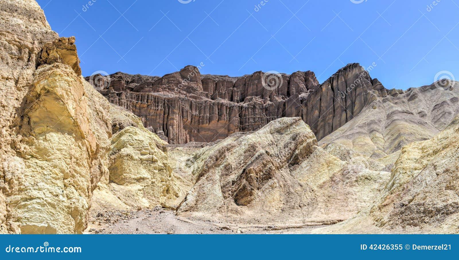 Barranco de oro, parque nacional de Death Valley