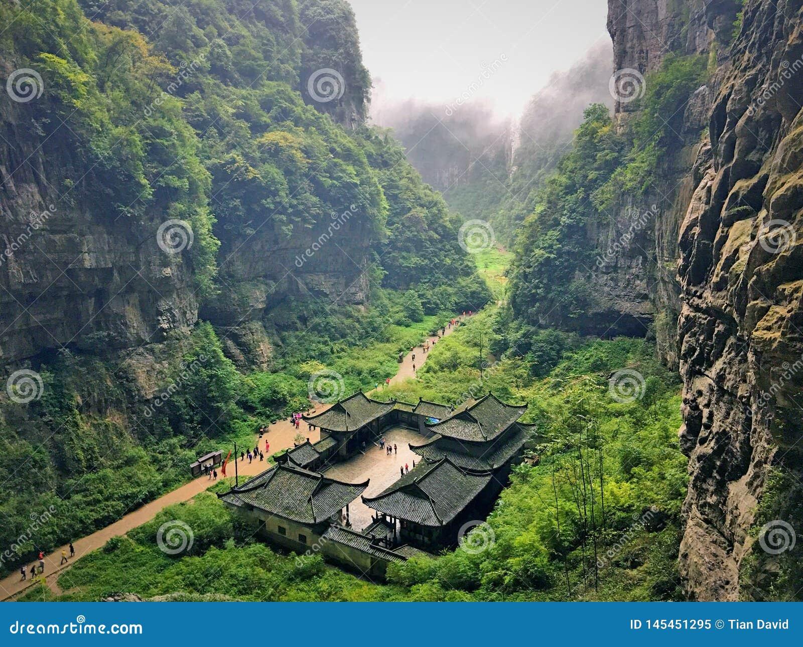Barranco hermoso en China