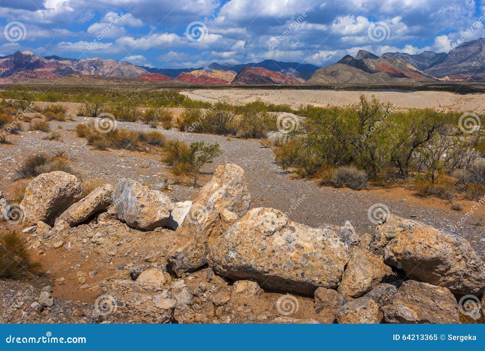 Barranco rojo de la roca