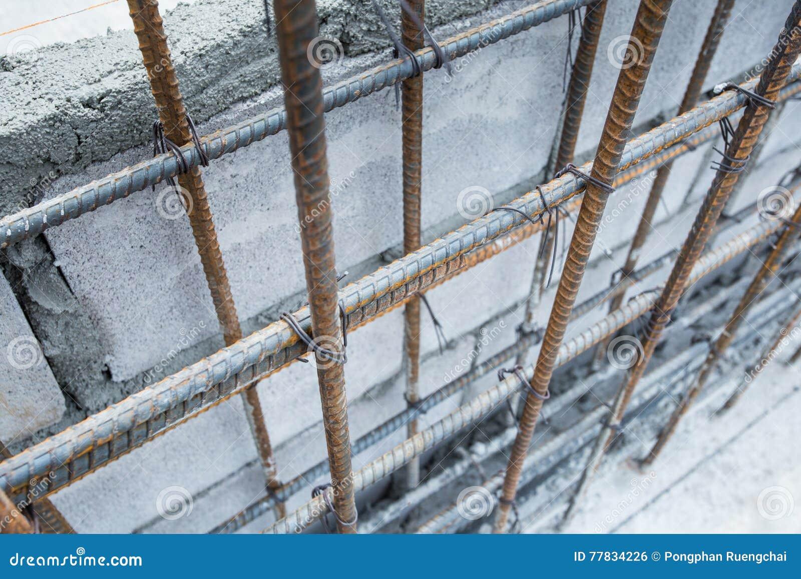 Barras de aço para reforçar o concreto