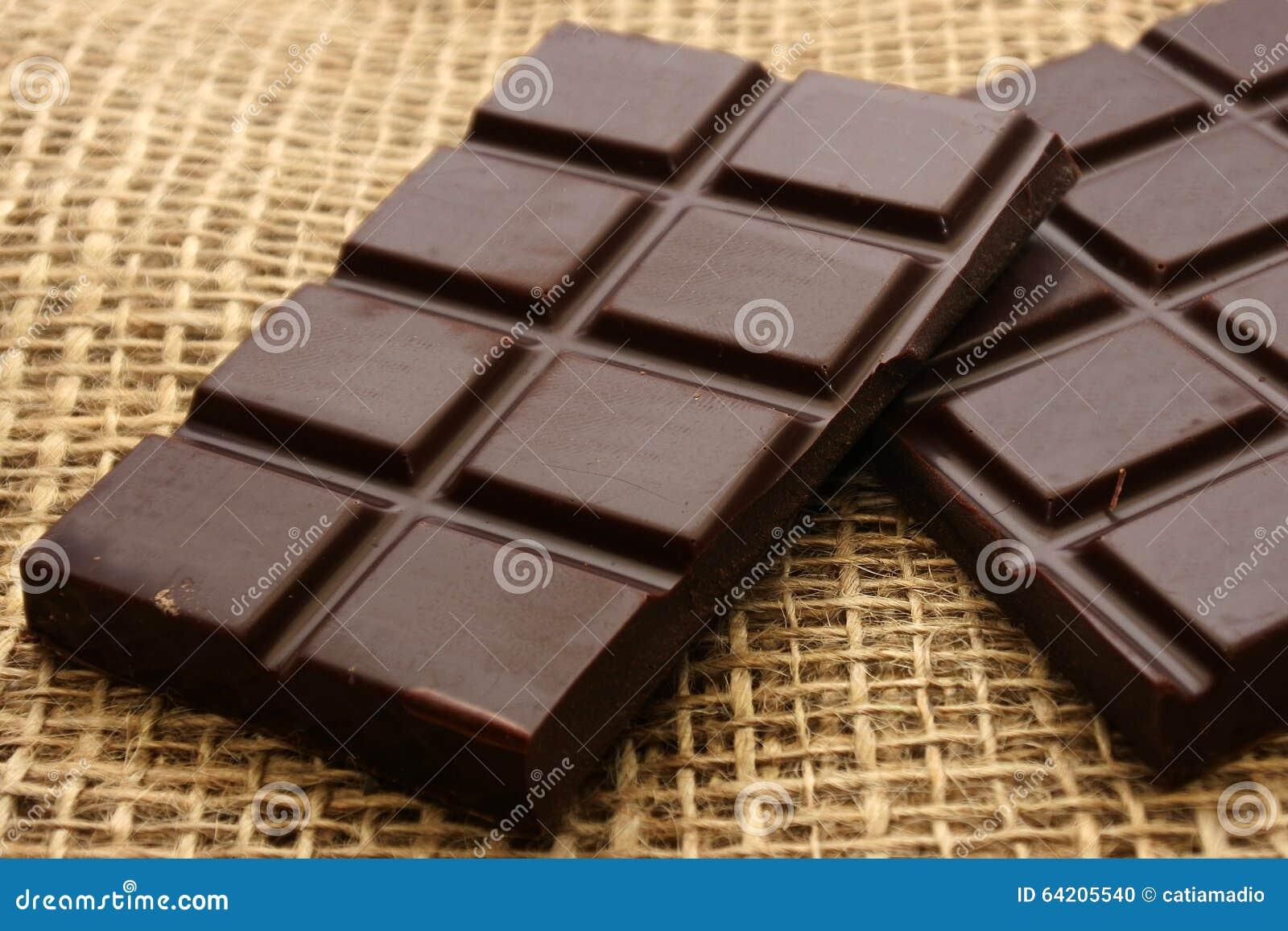 Barras de chocolate oscuras