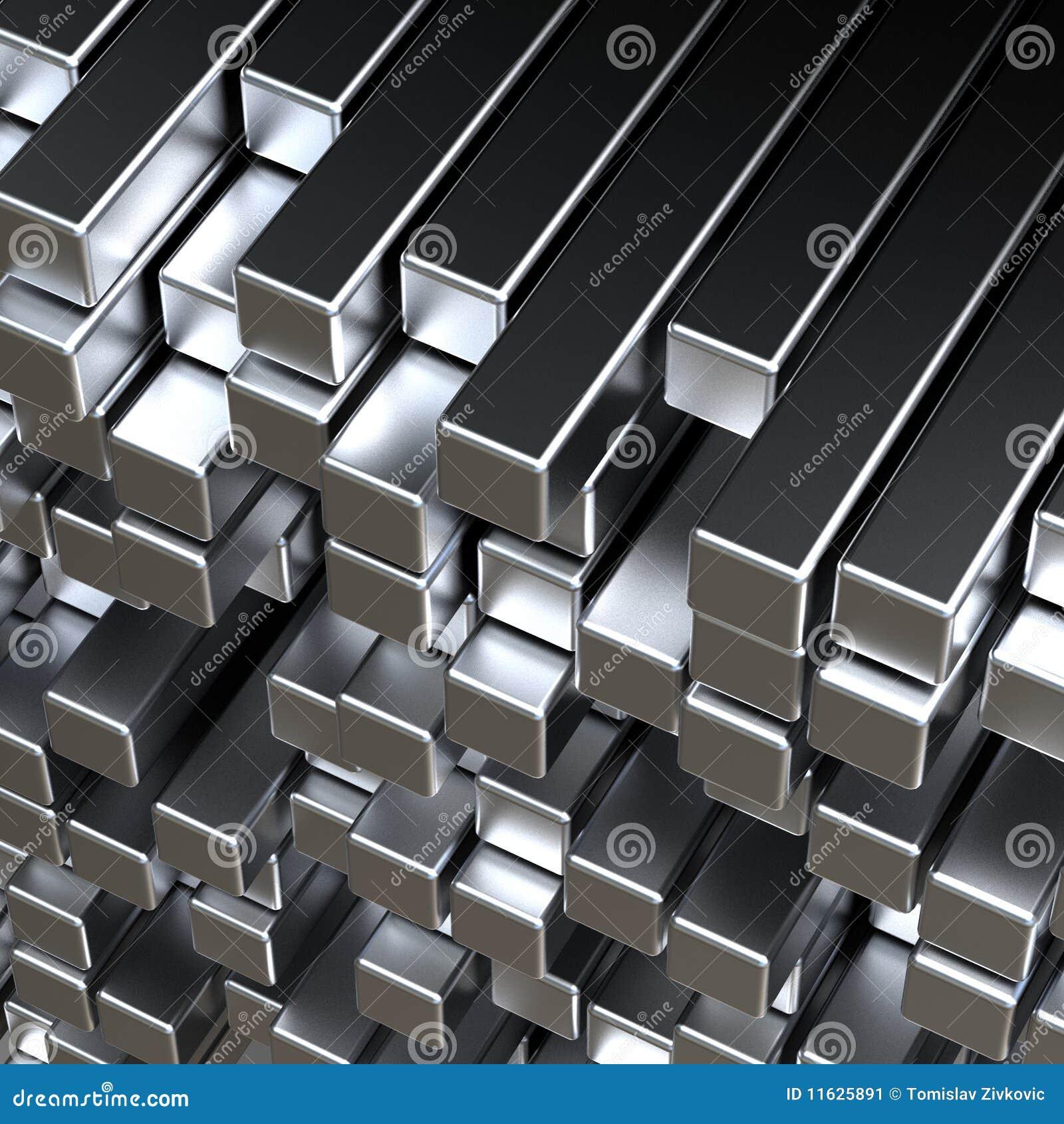 Barras De Metal 3d Stock De Ilustración. Ilustración De