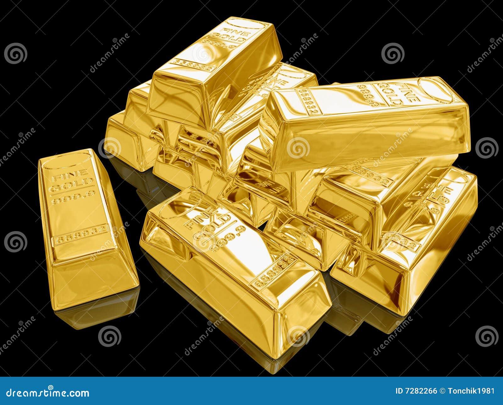 Barras de oro.