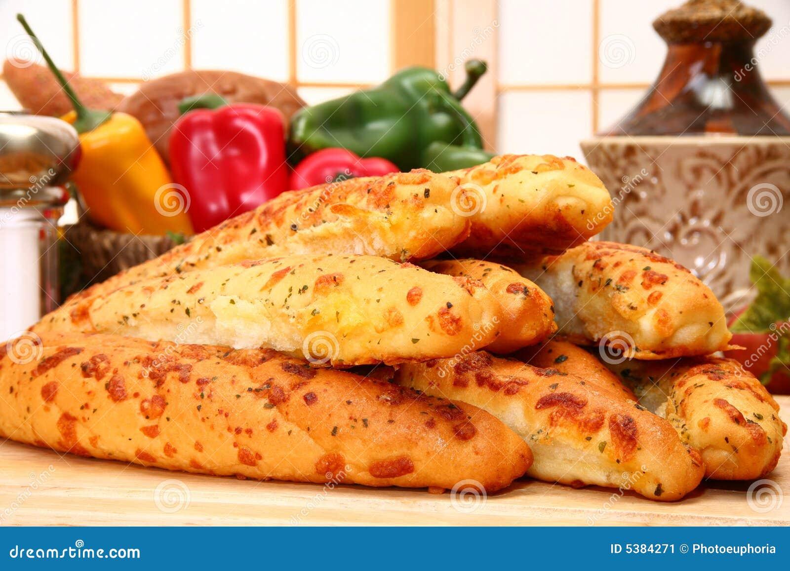 Barras de pan de ajo