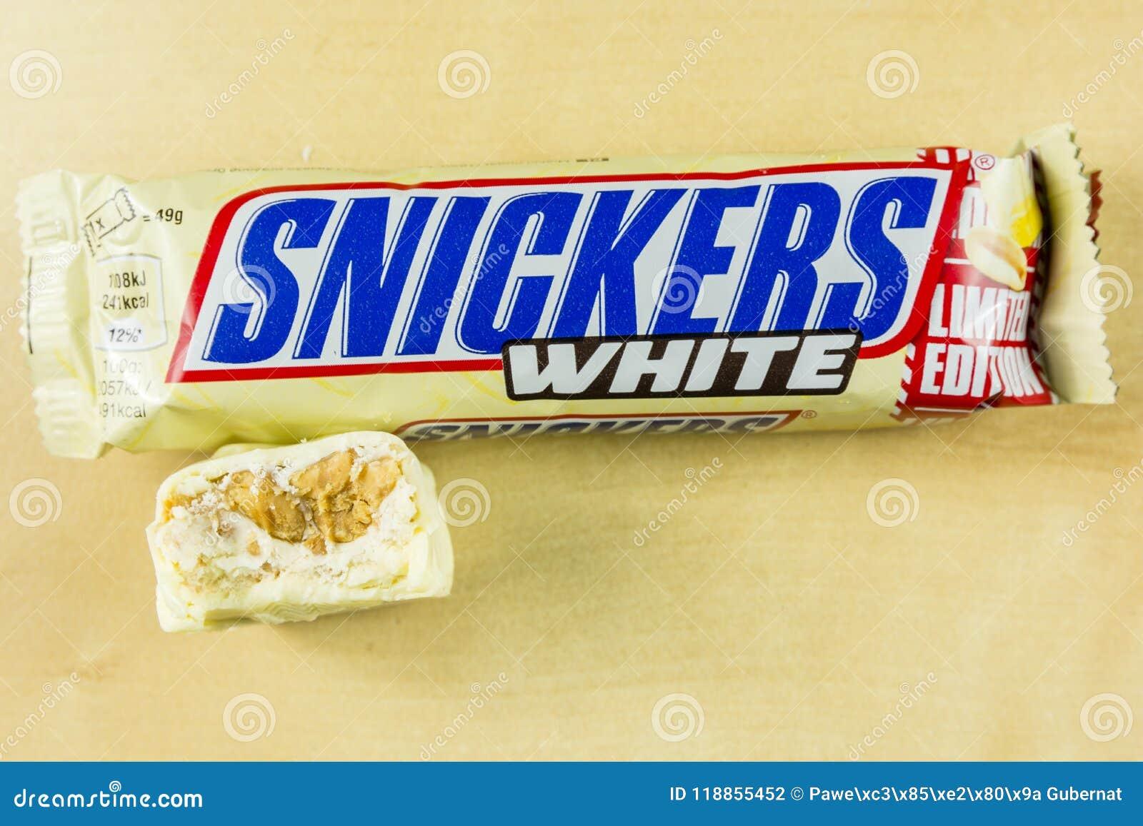 Barre de chocolat savoureuse mordue en chocolat blanc - ricanements blancs