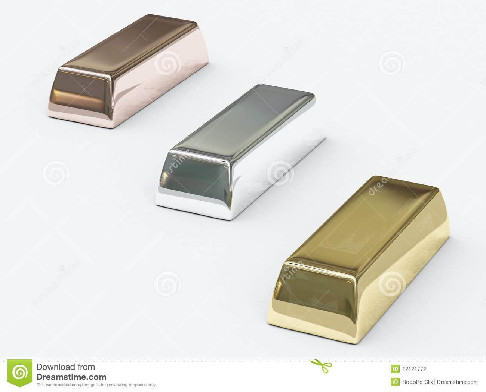 Barre Dei Metalli Preziosi Illustrazione Di Stock