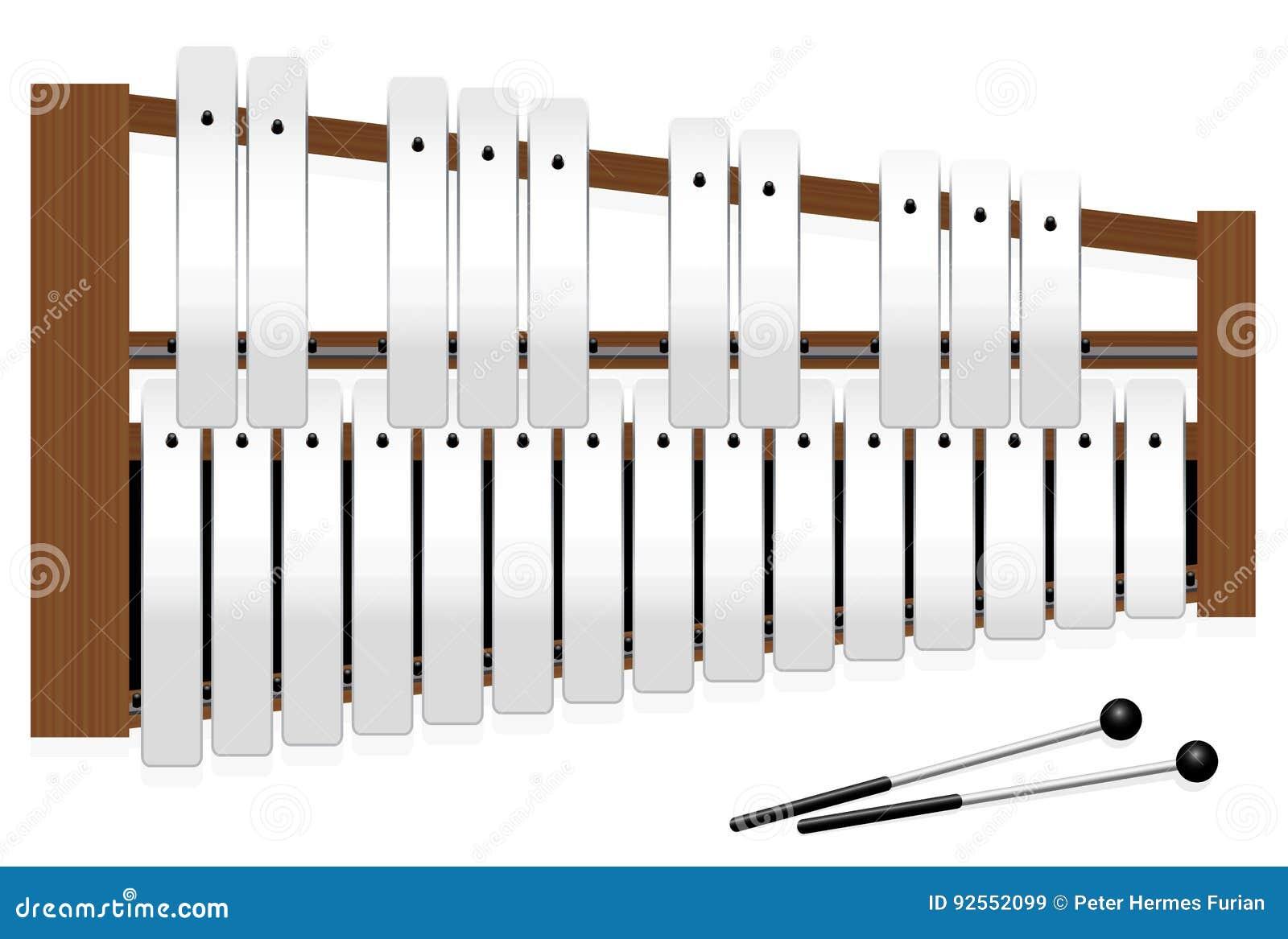 Barre di metallo dei semitoni di Metallophone tre ottava