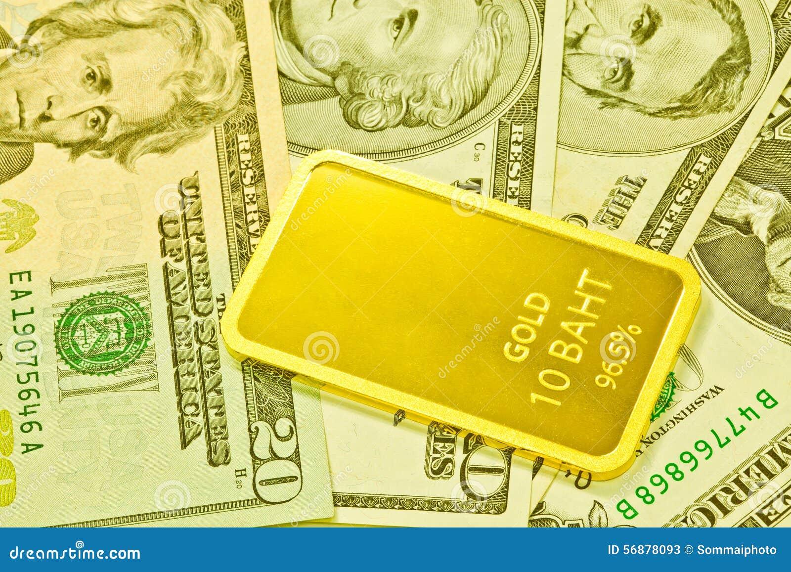 Barre e dollaro di oro