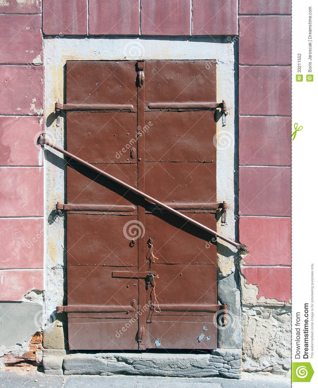 Barred Steel Door Stock Photography - Image: 33211552