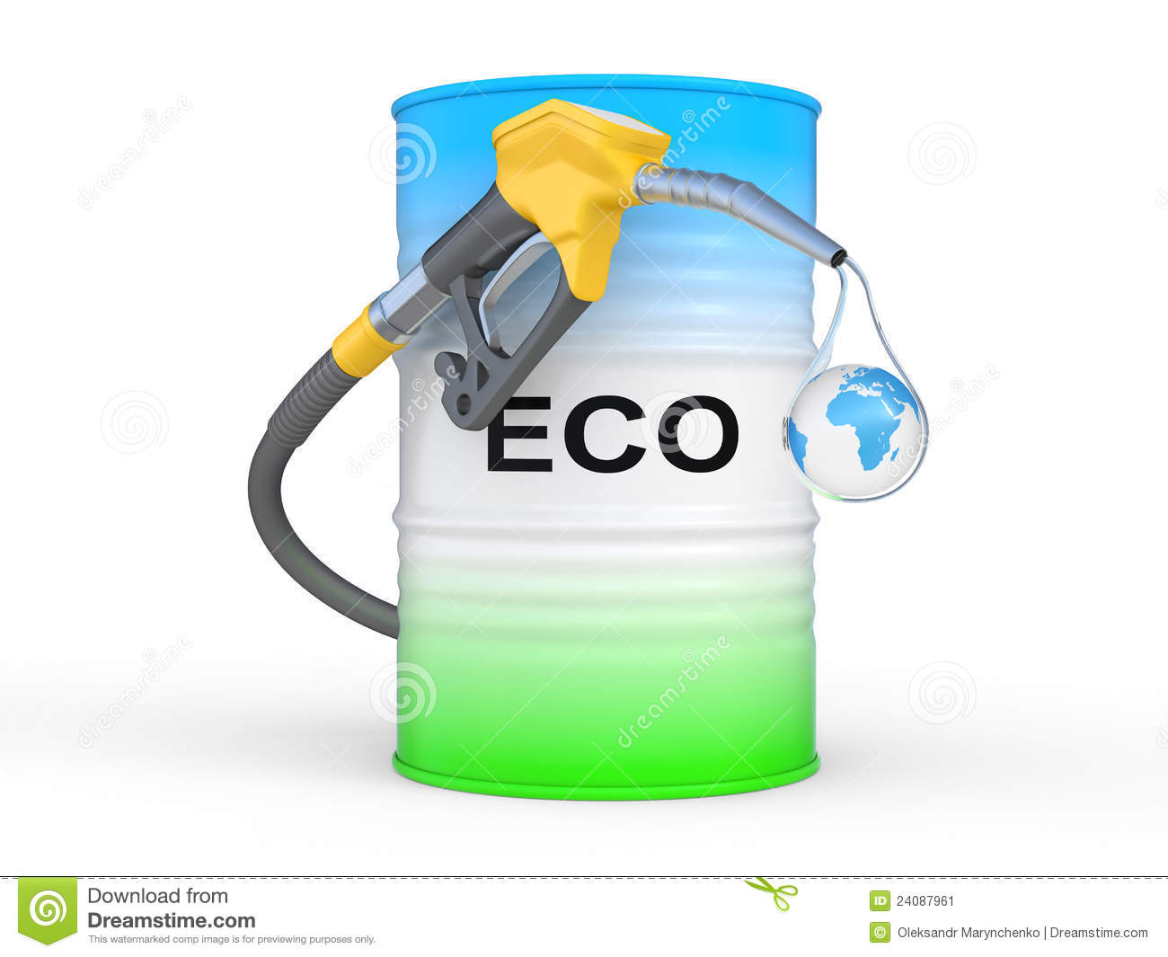 barrel with eco fuel and gas pump nozzle stock image image 24087961. Black Bedroom Furniture Sets. Home Design Ideas