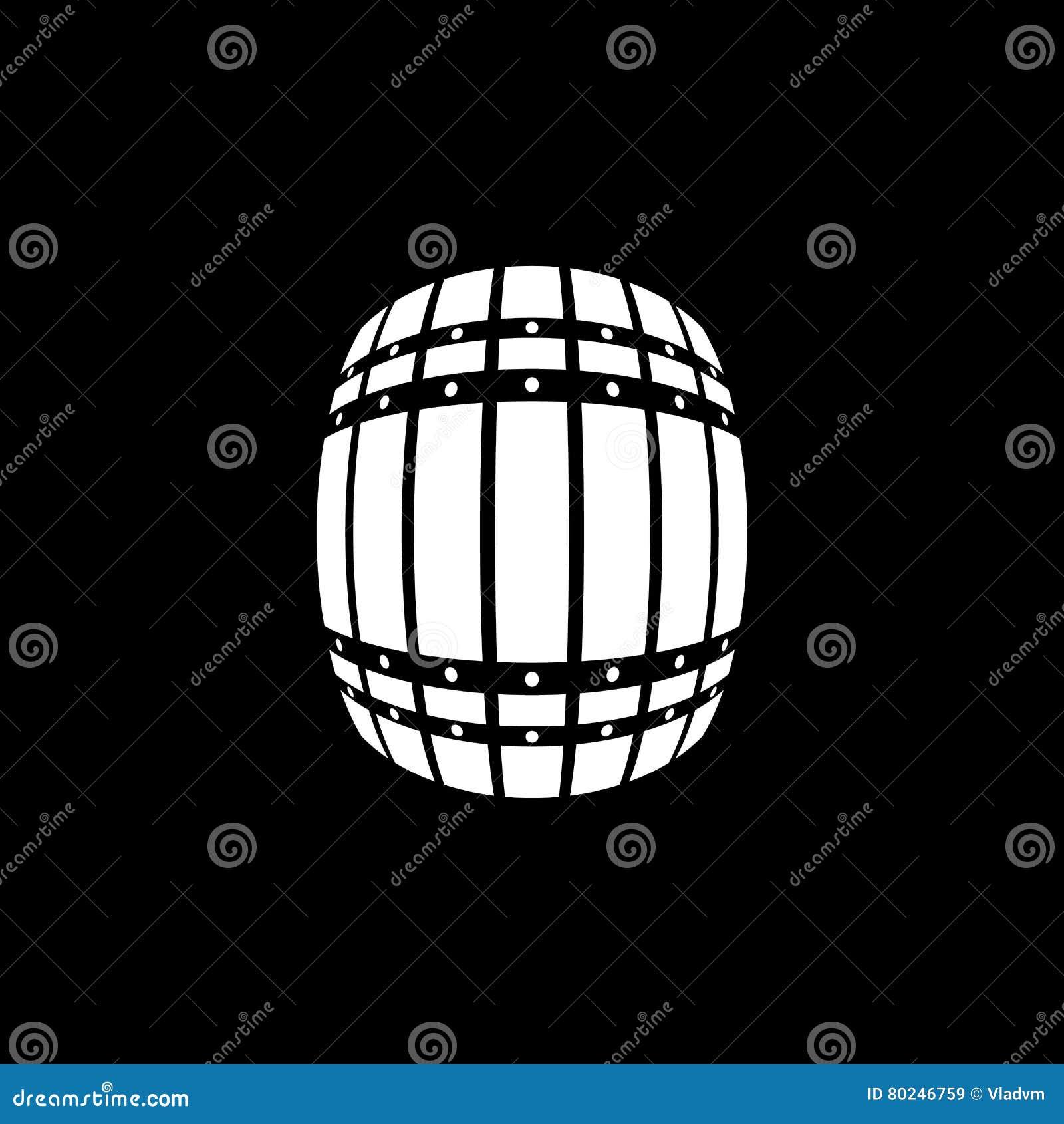The Barrel icon. Cask and keg, beer, Barrel symbol. UI. Web. Logo. Sign. Flat design. App. Stock
