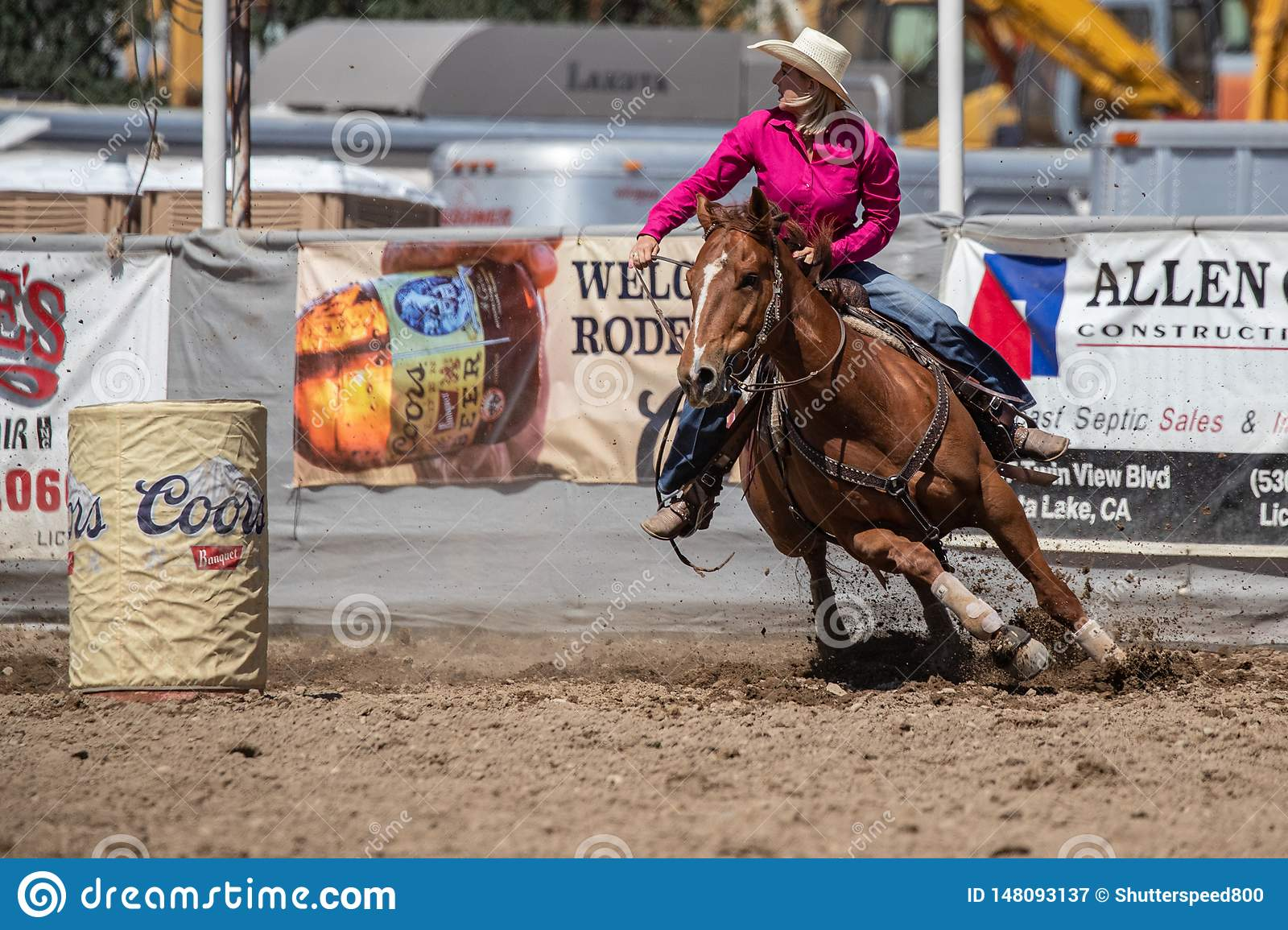 An Afternoon Of Barrel Racing Editorial Photography Image Of Weekend Barrel 148093137