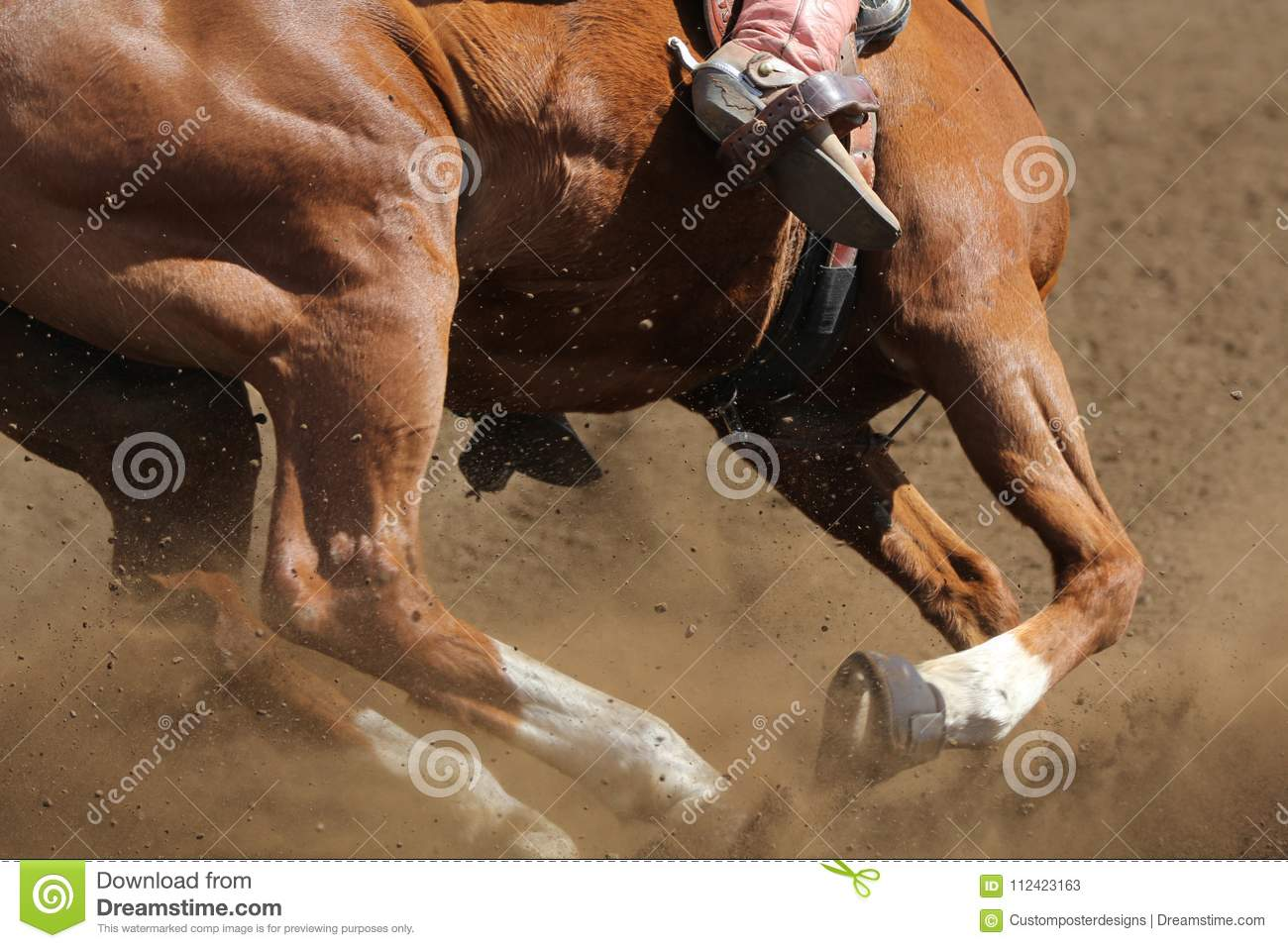Download A barrel racing horse. stock image. Image of competition - 112423163