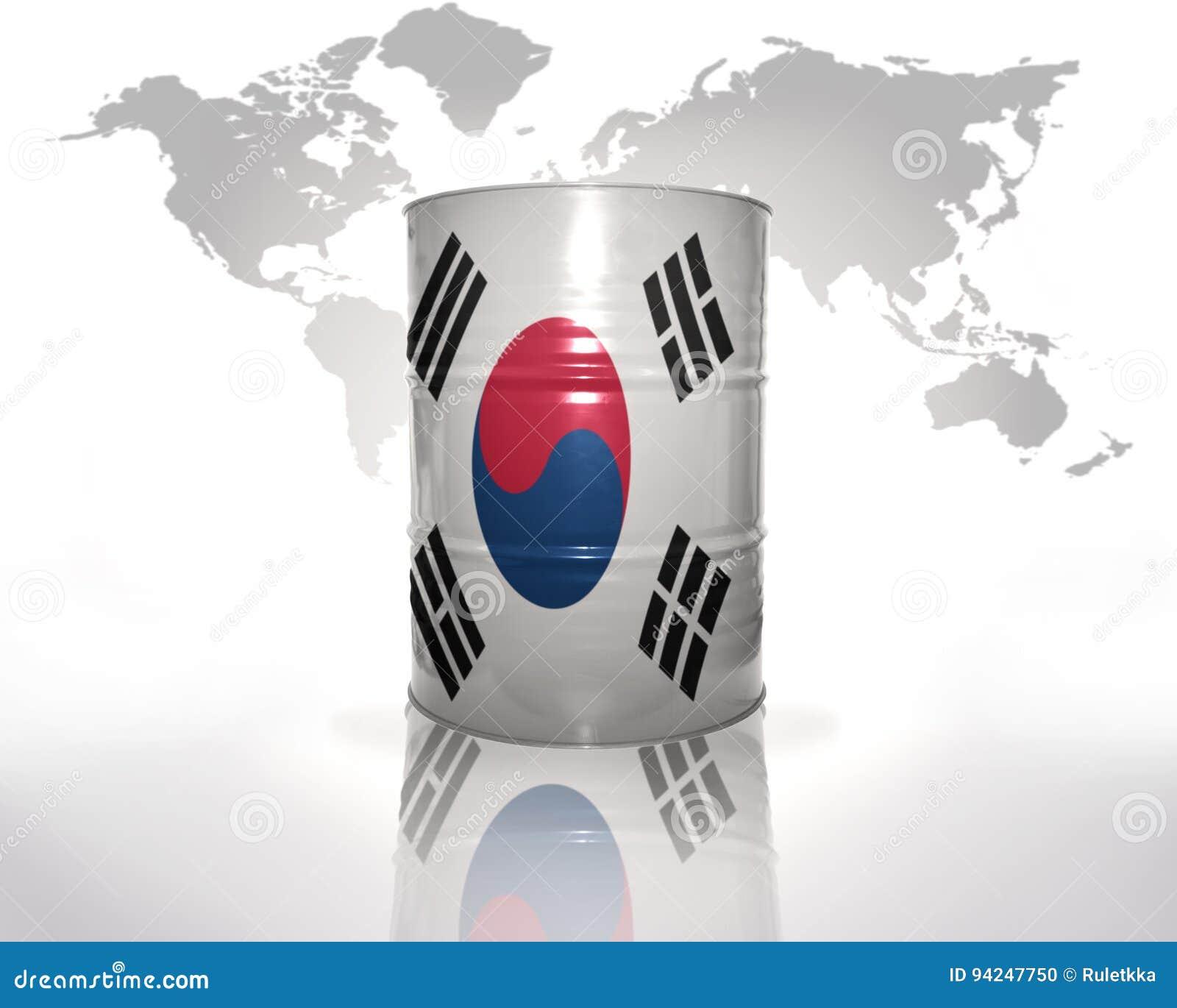 Barrel with south korea flag