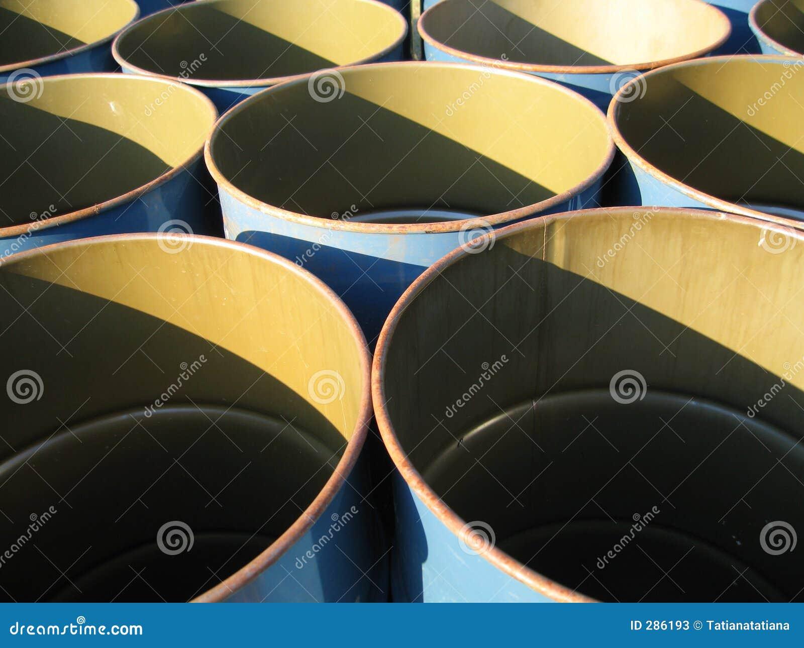 Barrels blått tömmer