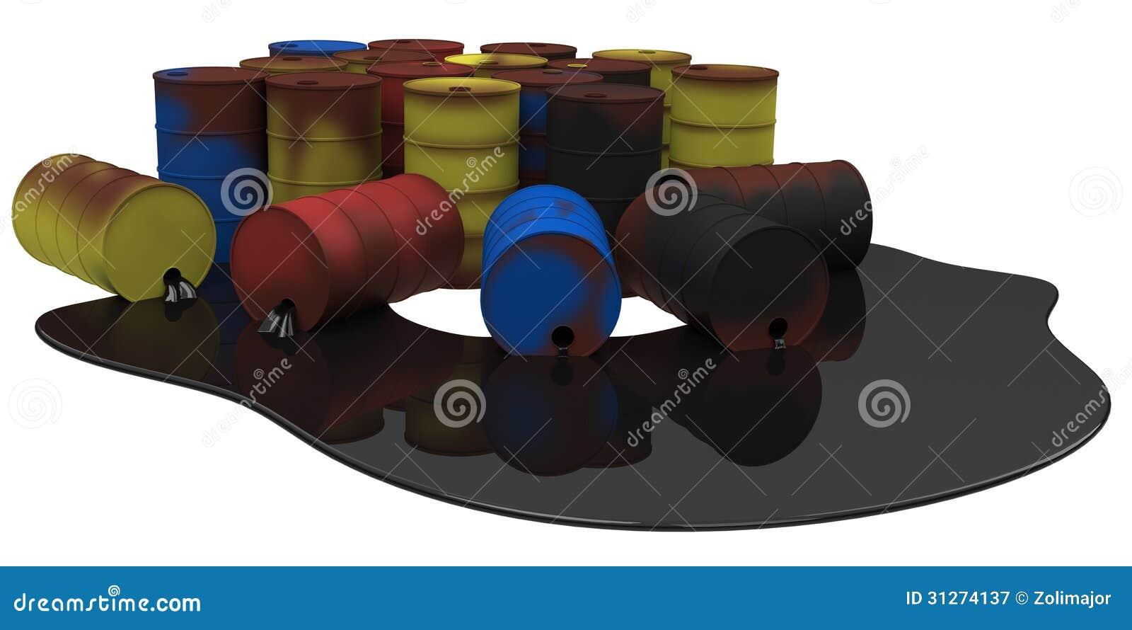 barrels with oil spill stock image image of fuel industrial 31274137. Black Bedroom Furniture Sets. Home Design Ideas
