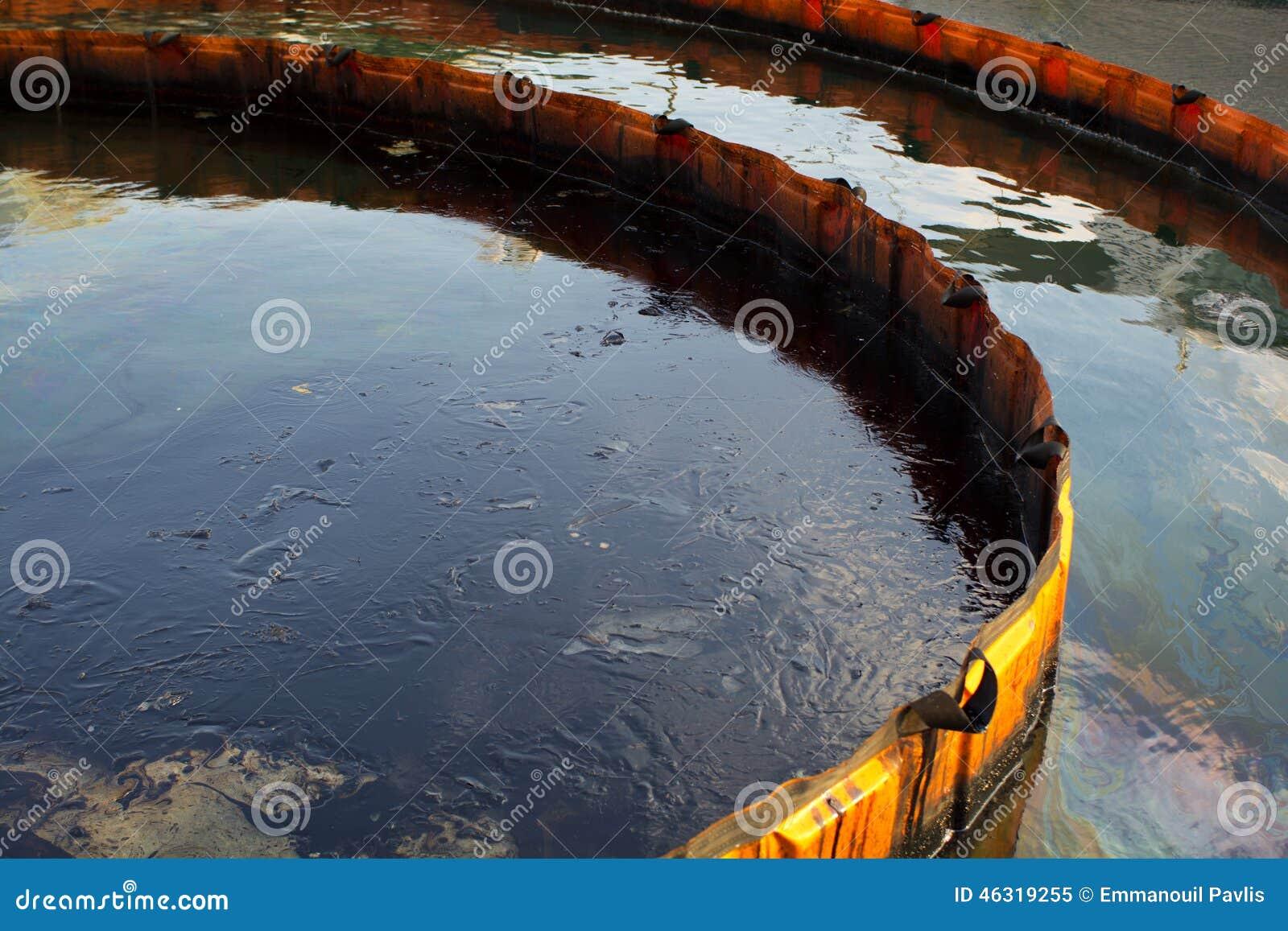 Barrera Del Control De La Contaminación Imagen de archivo - Imagen ...