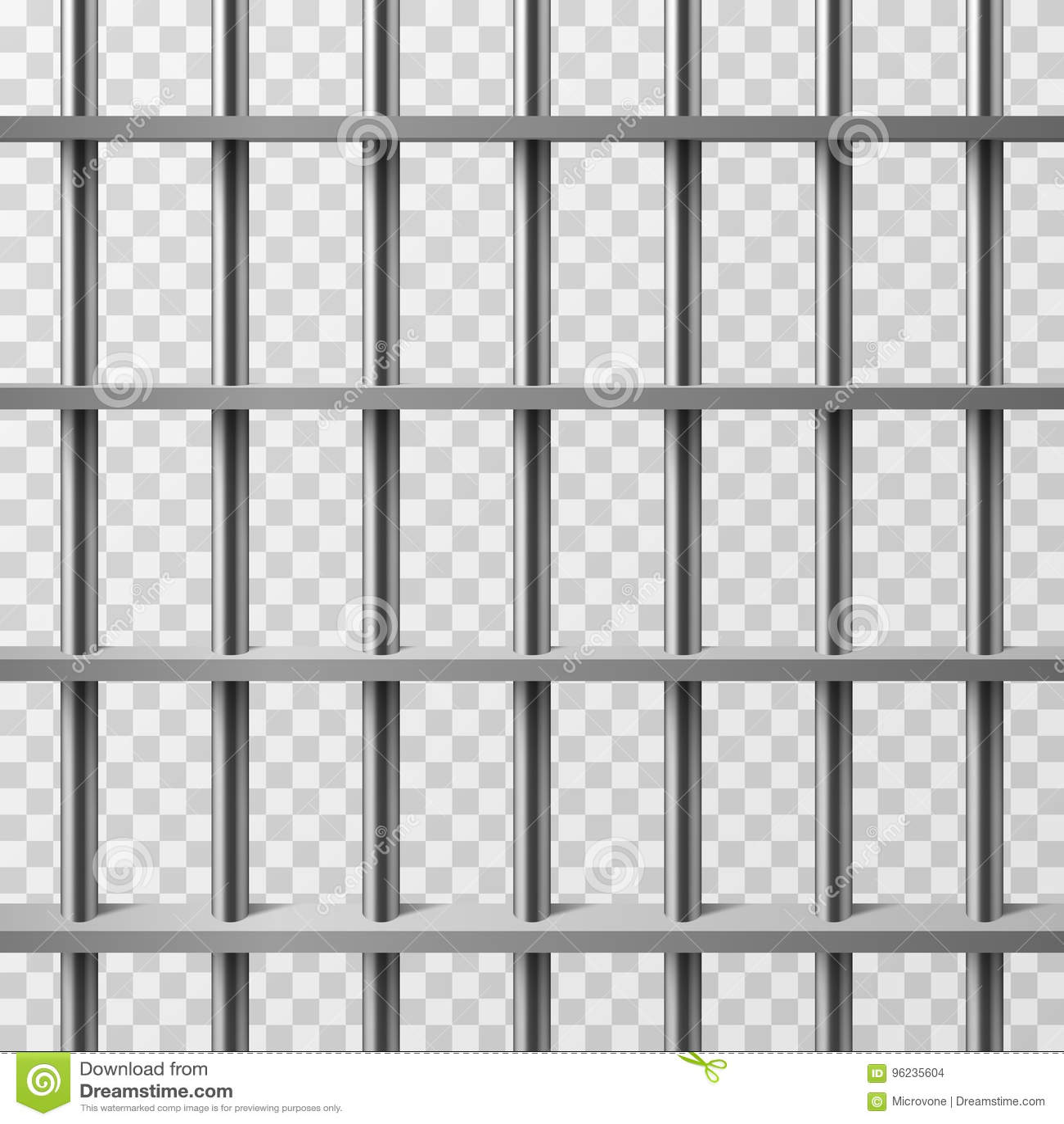 Barres de cellules de prison d isolement Fond de vecteur de prison
