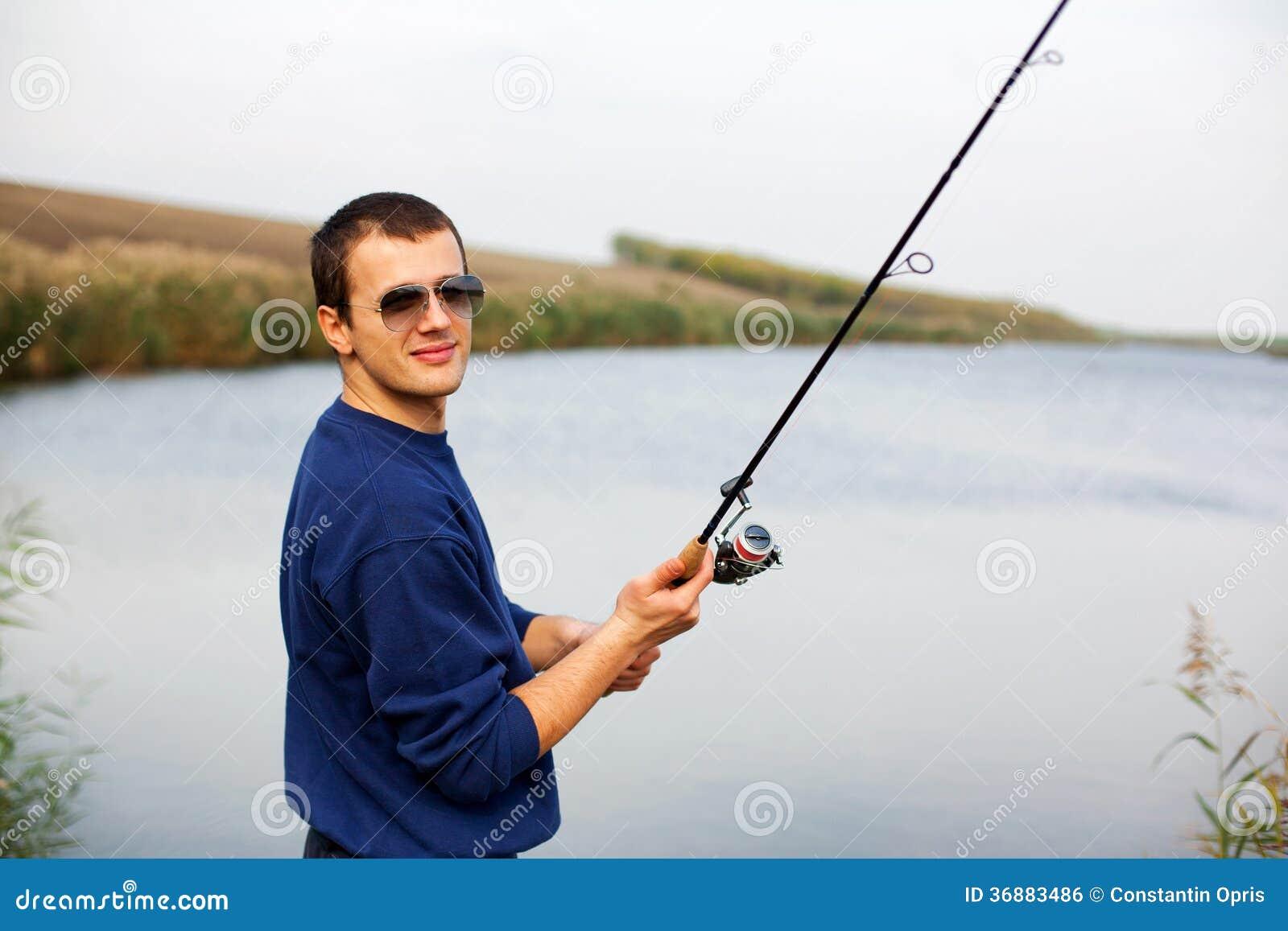 Download Barretta Della Colata Del Pescatore Fotografia Stock - Immagine di lifestyle, maschio: 36883486