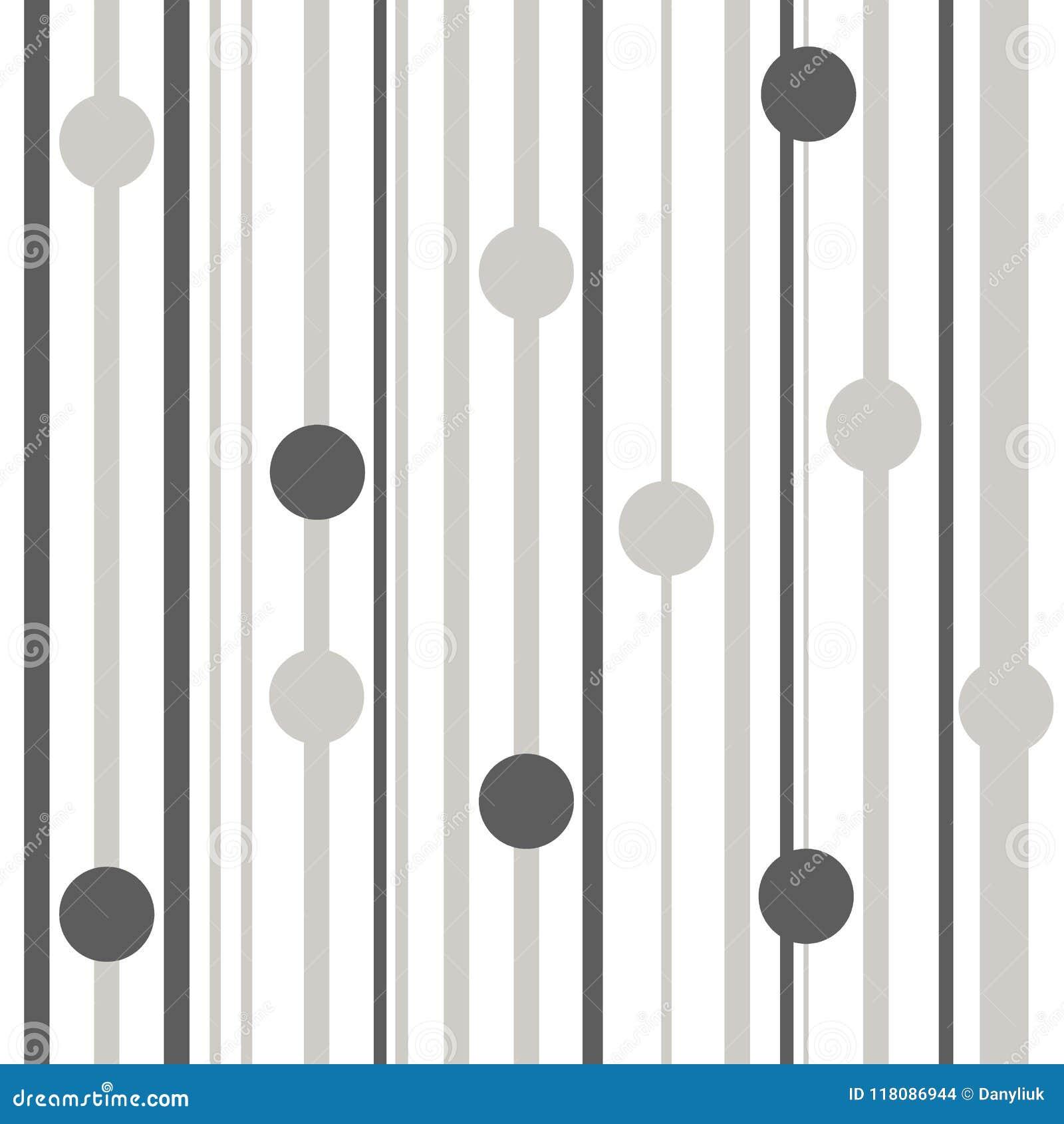 Barrez la ligne grise et blanche sans couture illustration de modèle de vecteur de couleurs