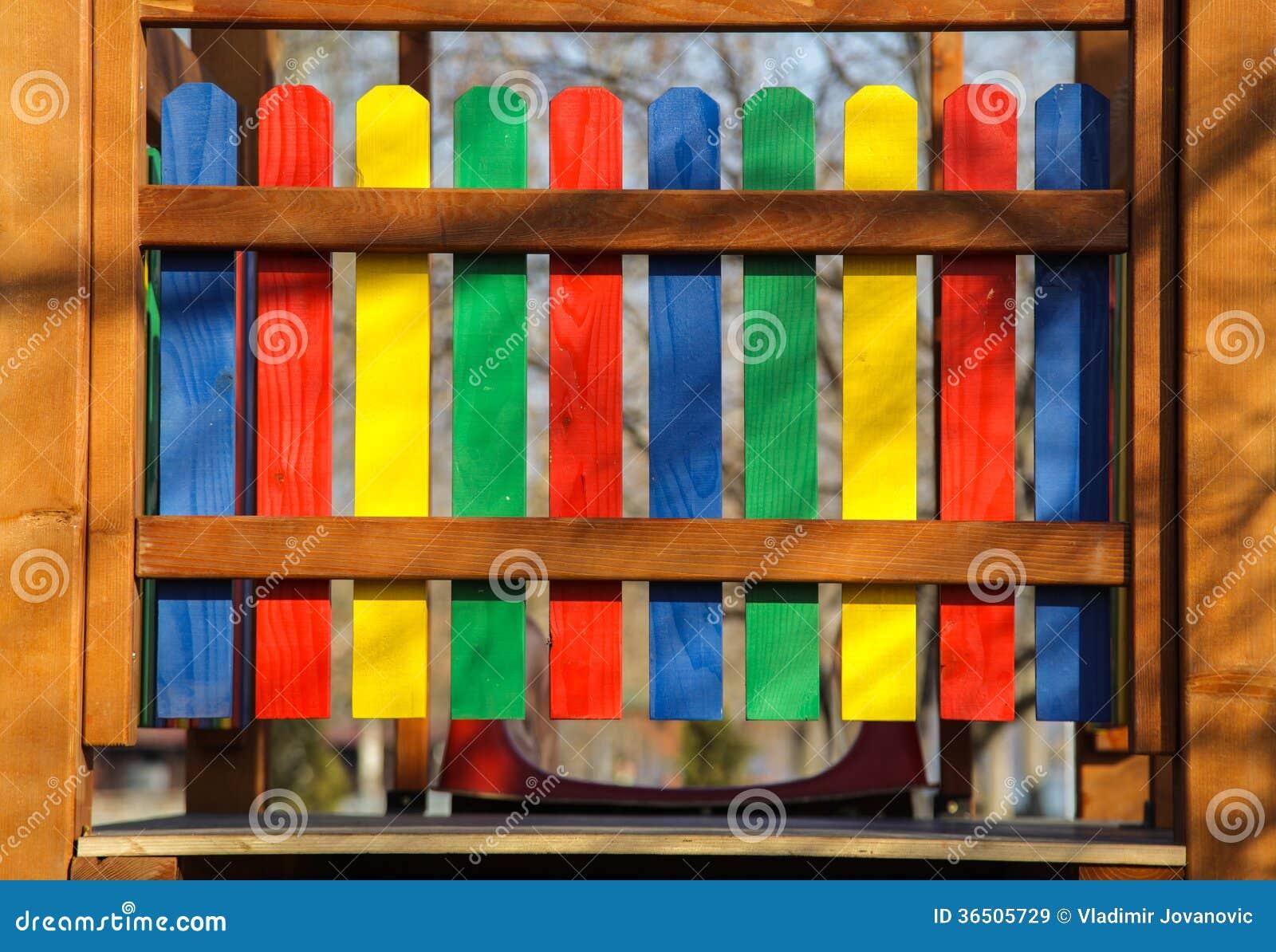 Barrière colorée