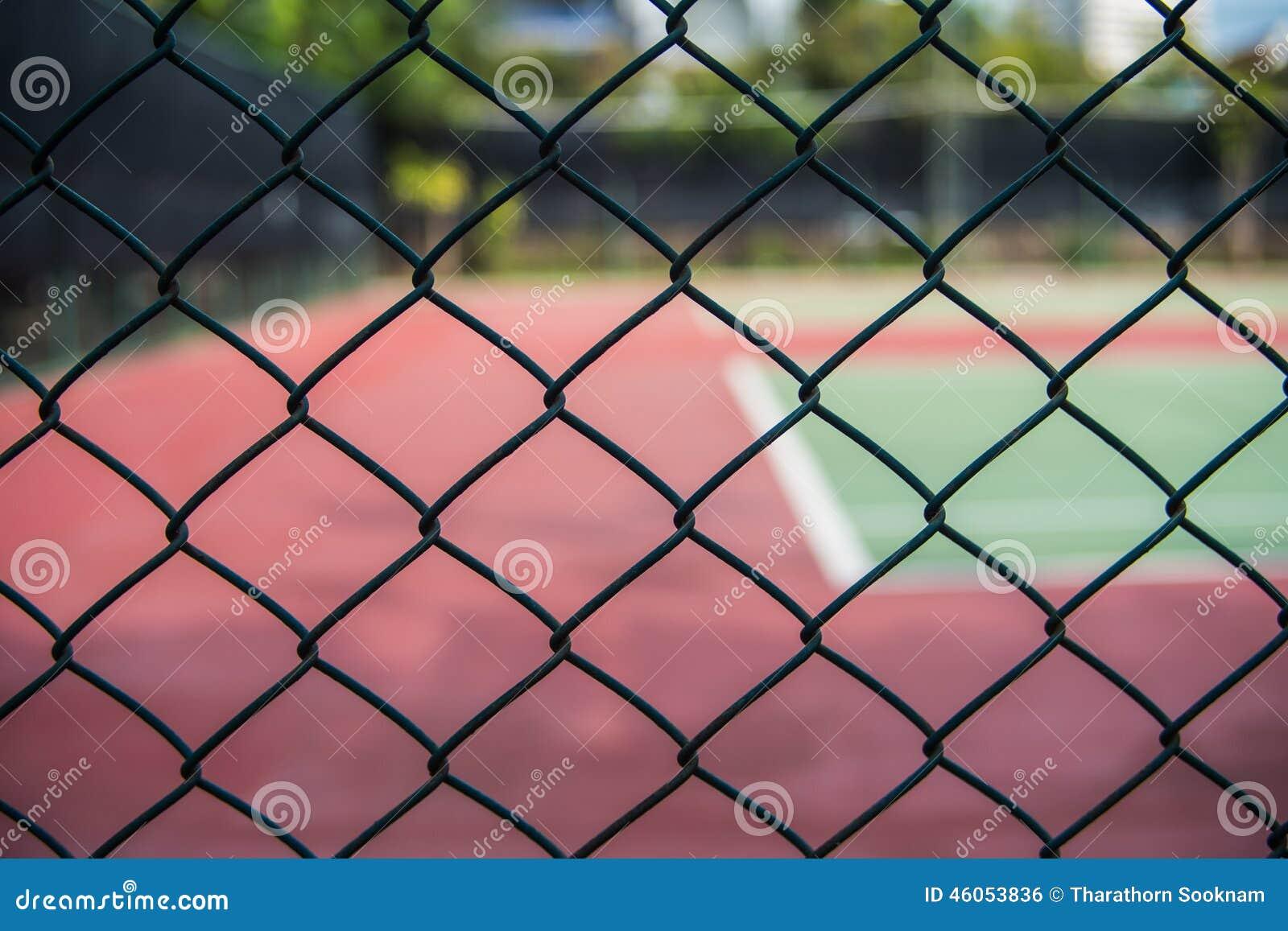 Barrière des courts de tennis