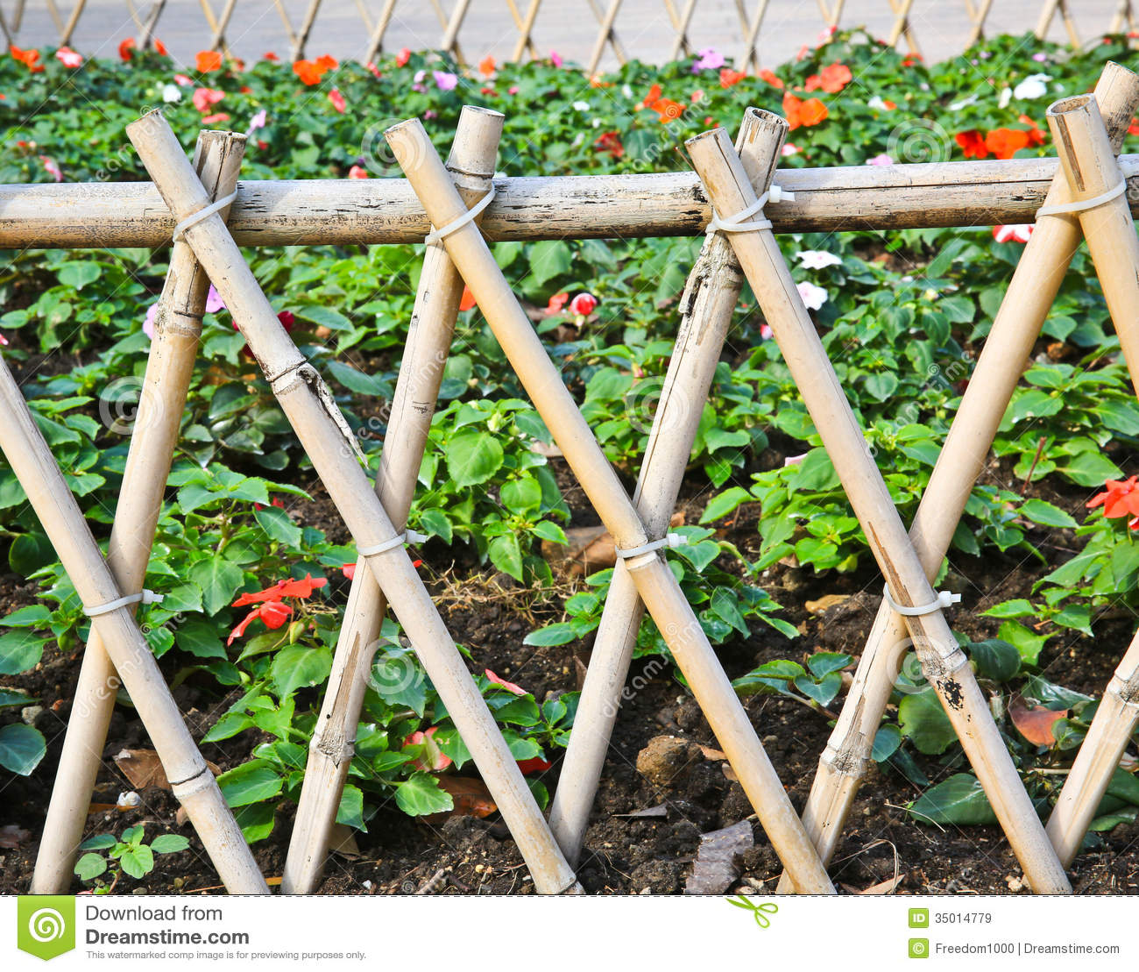 Barrière en bambou image stock. Image du protection, personne - 35014779