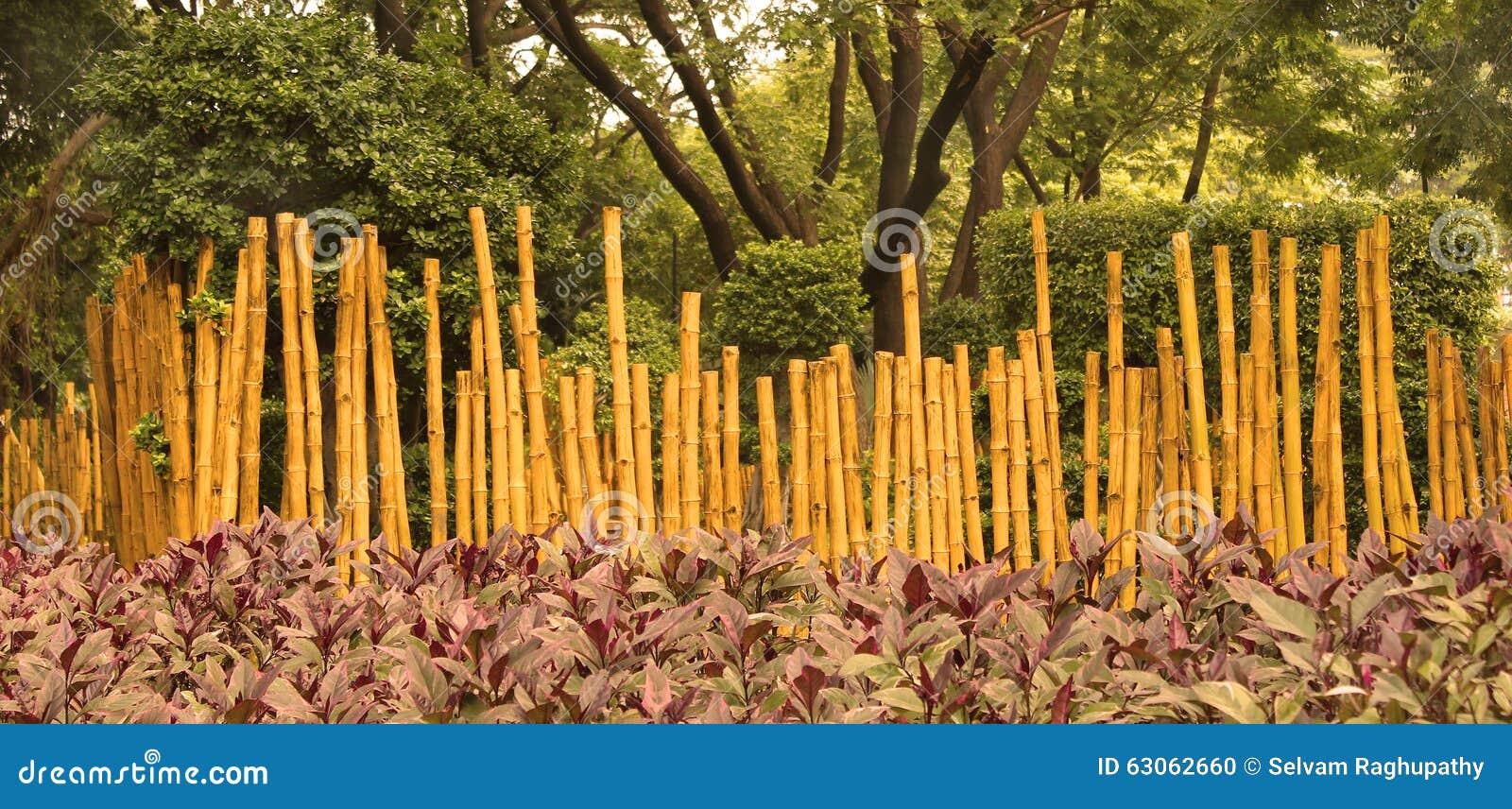 Barrière En Bambou De Jardin Photo stock - Image du structure ...
