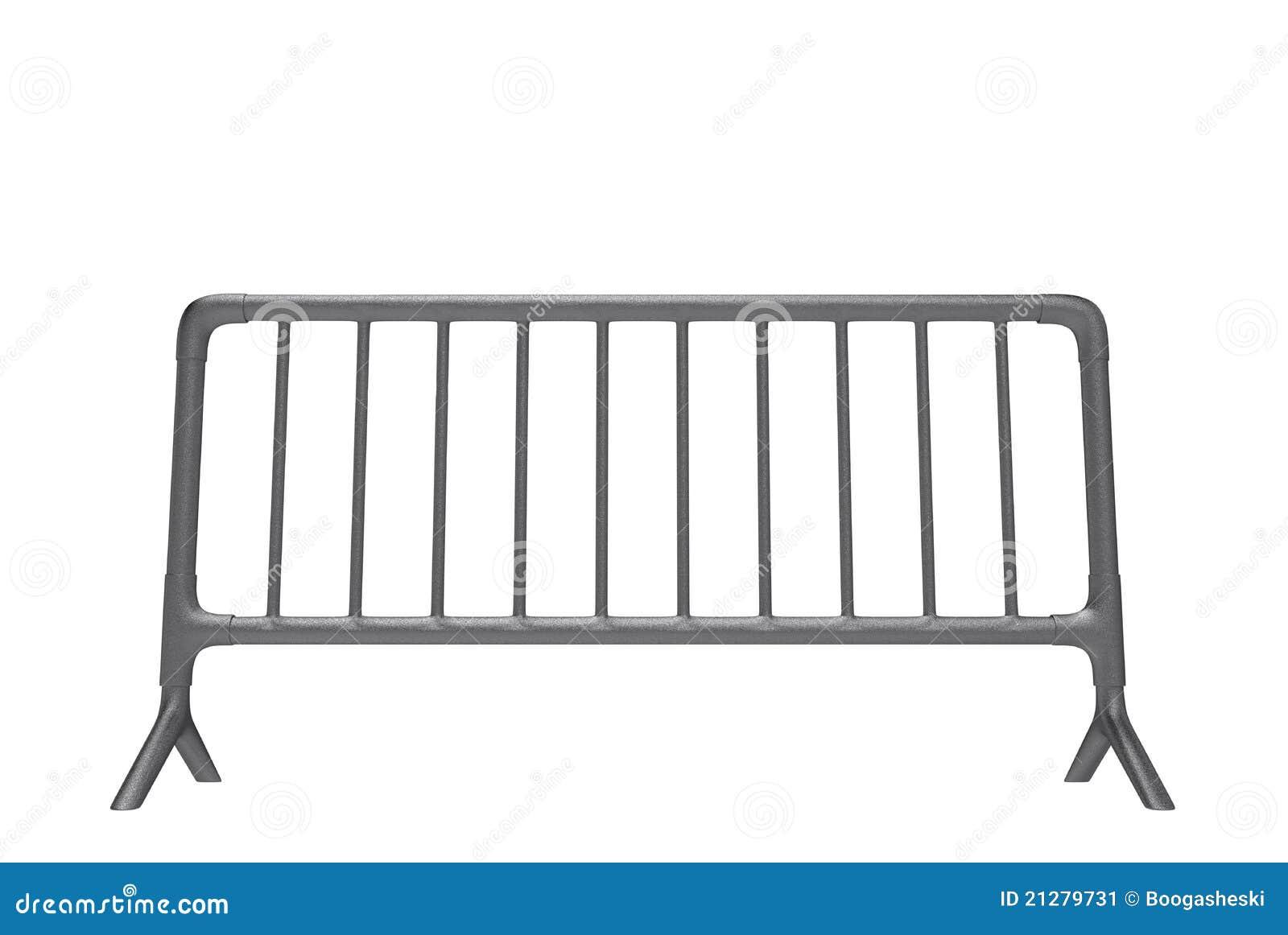 barri re en m tal image stock image 21279731. Black Bedroom Furniture Sets. Home Design Ideas