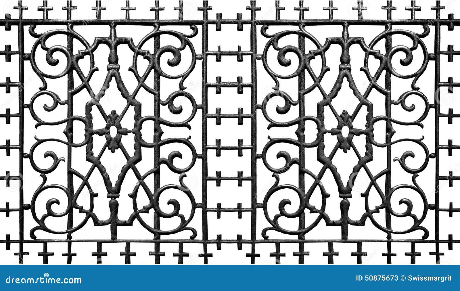 barri re fleurie de fer en m tal image stock image du d coration magnifique 50875673. Black Bedroom Furniture Sets. Home Design Ideas