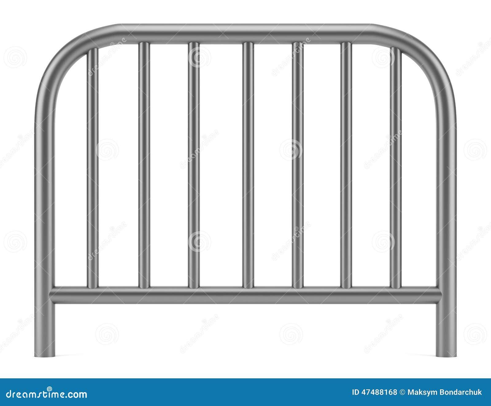barri re m tallique de trottoir d 39 isolement sur le blanc. Black Bedroom Furniture Sets. Home Design Ideas