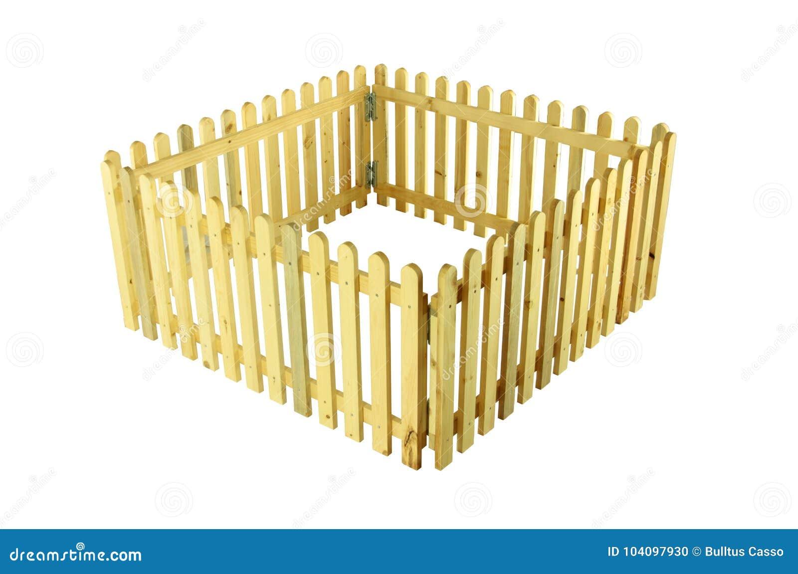 Barrières en bois pour des animaux familiers sur d isolement
