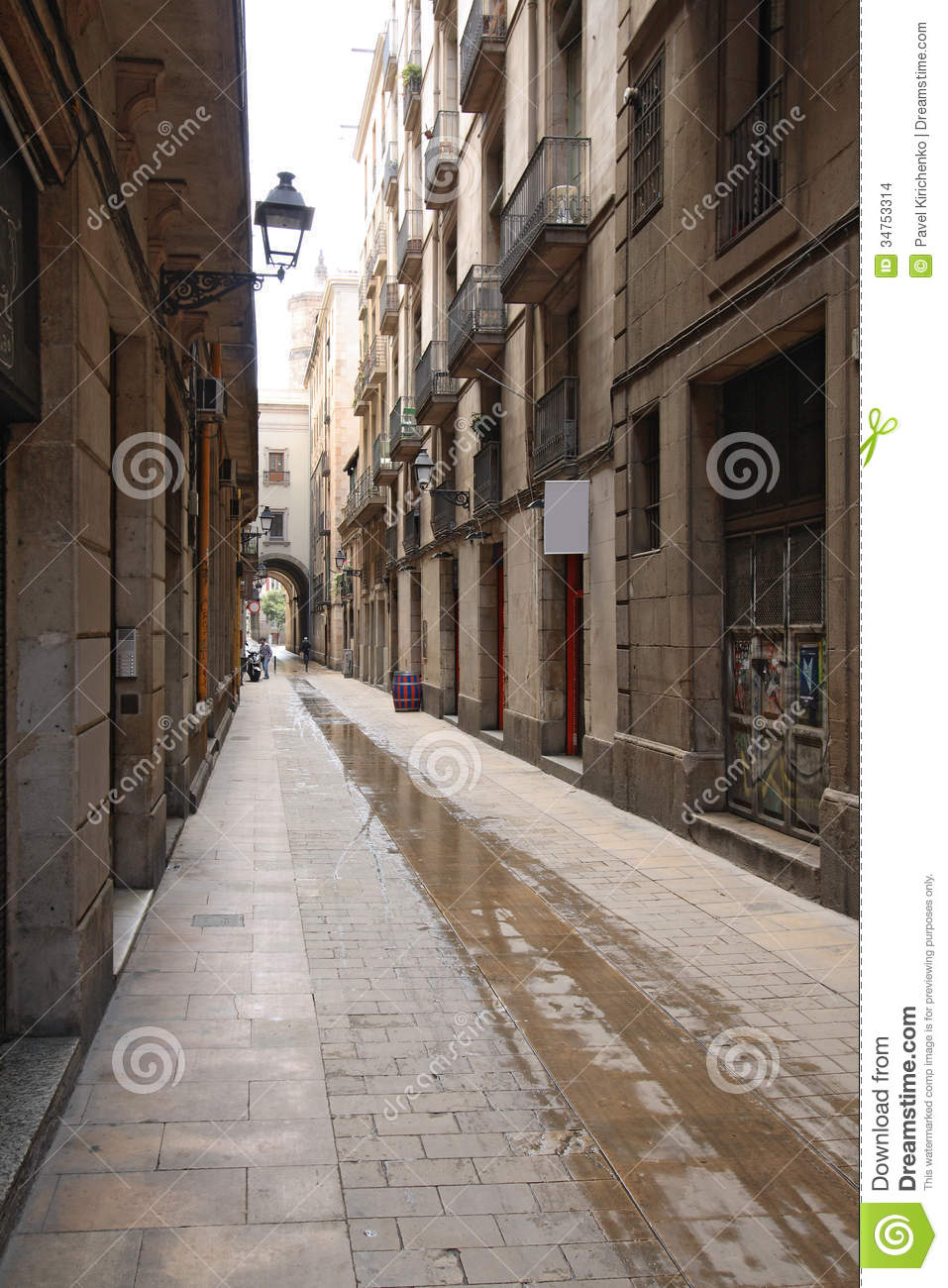 Barri Gotic, Barcelona Stock Images - Image: 34753314