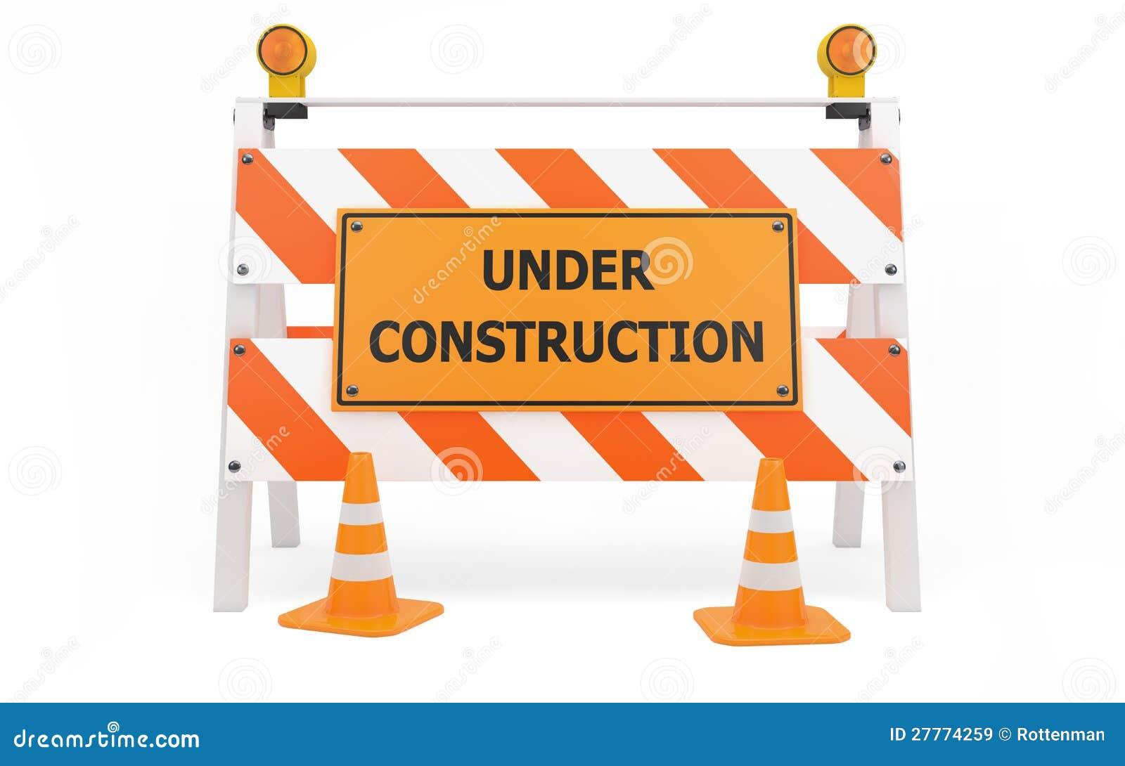 Barricade en construction de circulation