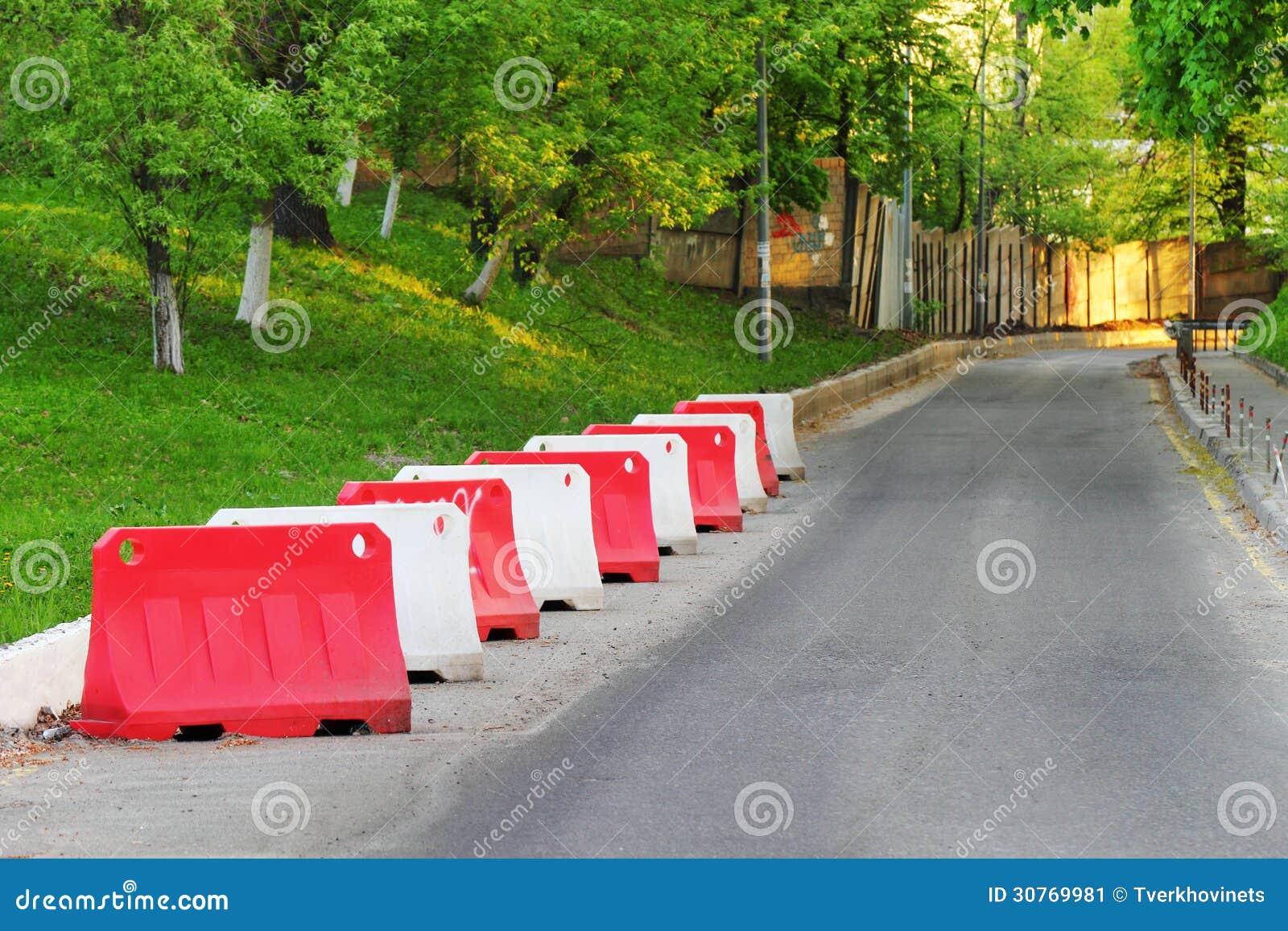 Barrier blocks stock image