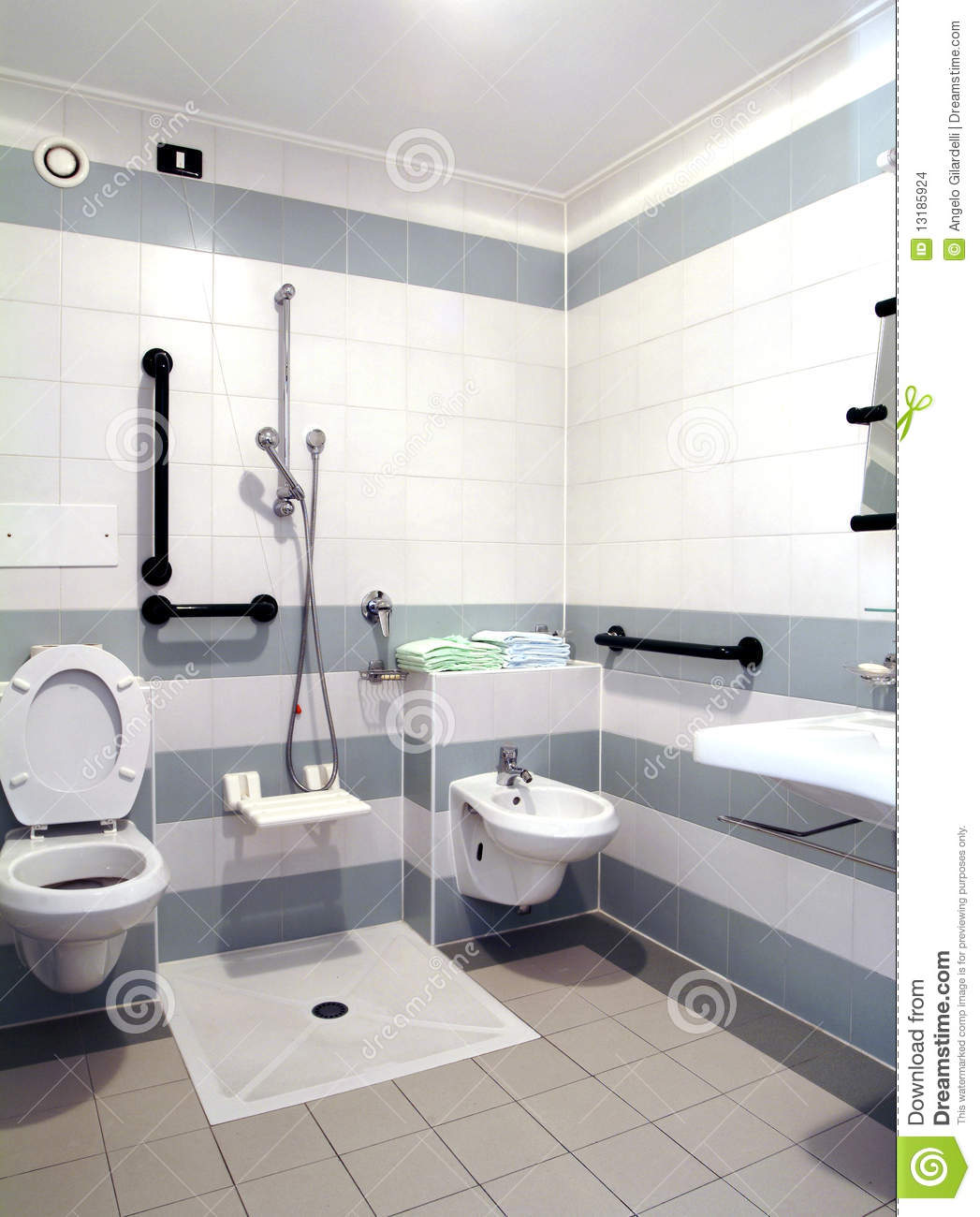 Barrier Free Bathroom Stock Photo Image Of Geriatric