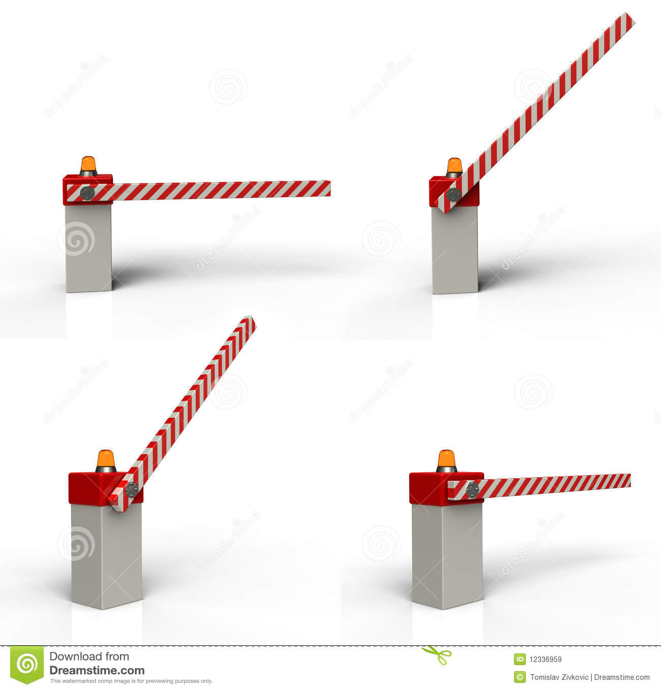 Barrier gate stock illustration of stop