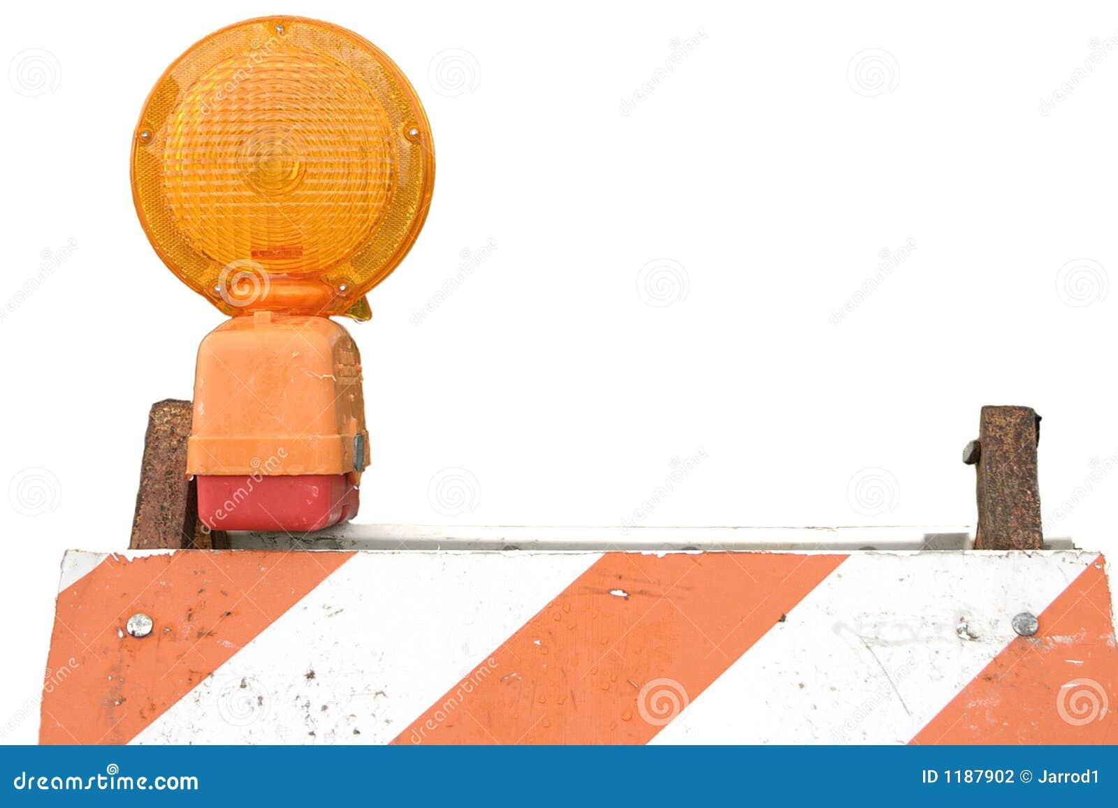 Barriera e lampeggiatore