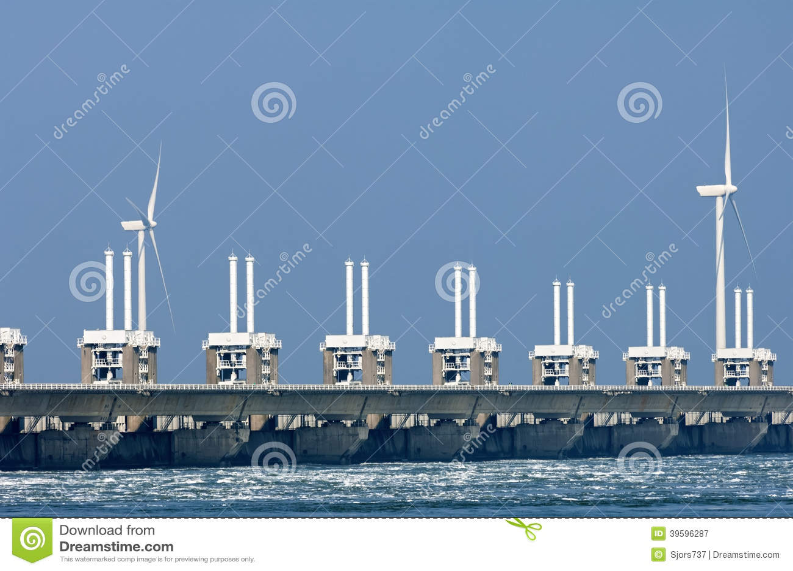Barriera orientale della mareggiata della Schelda, Paesi Bassi
