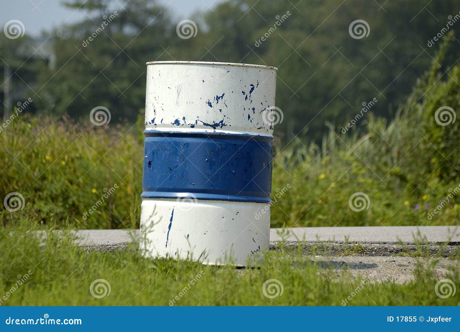 Barril - azul y blanco