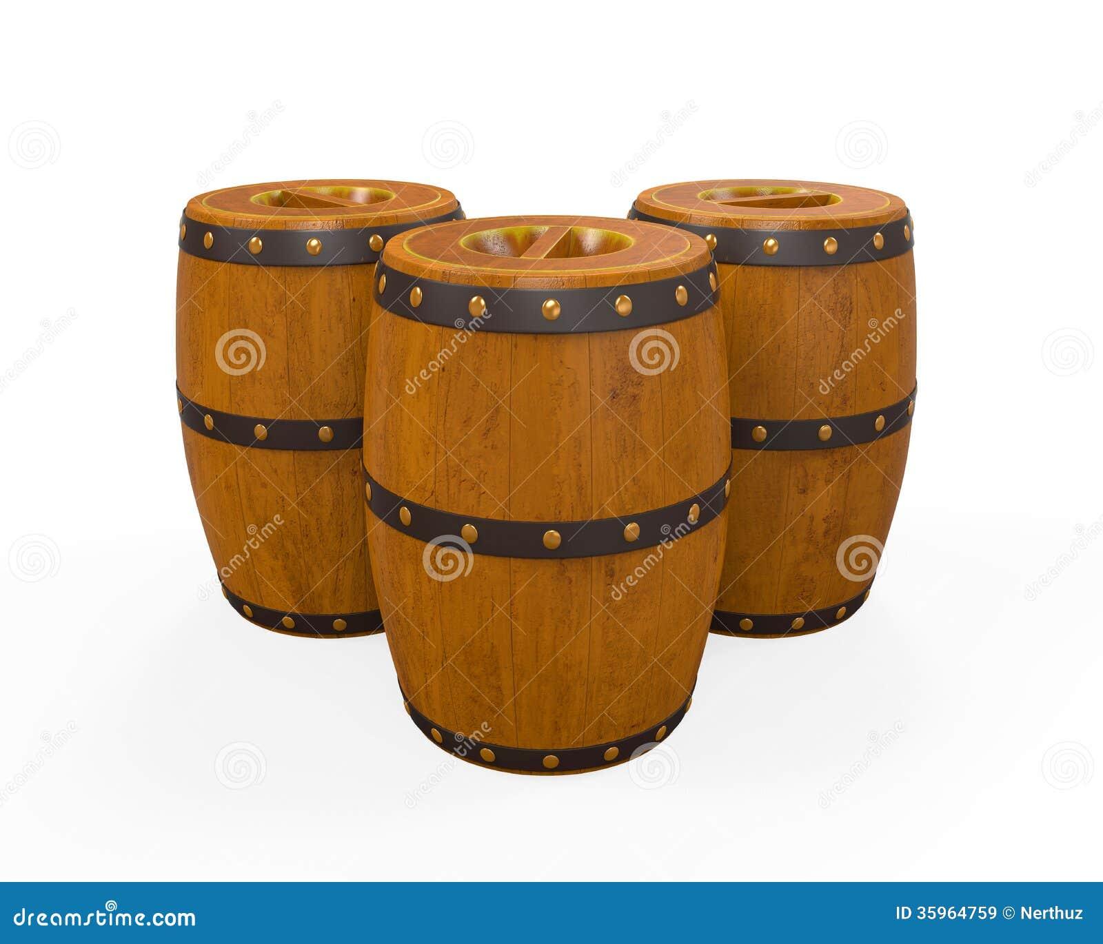 Barril de madera de la cerveza
