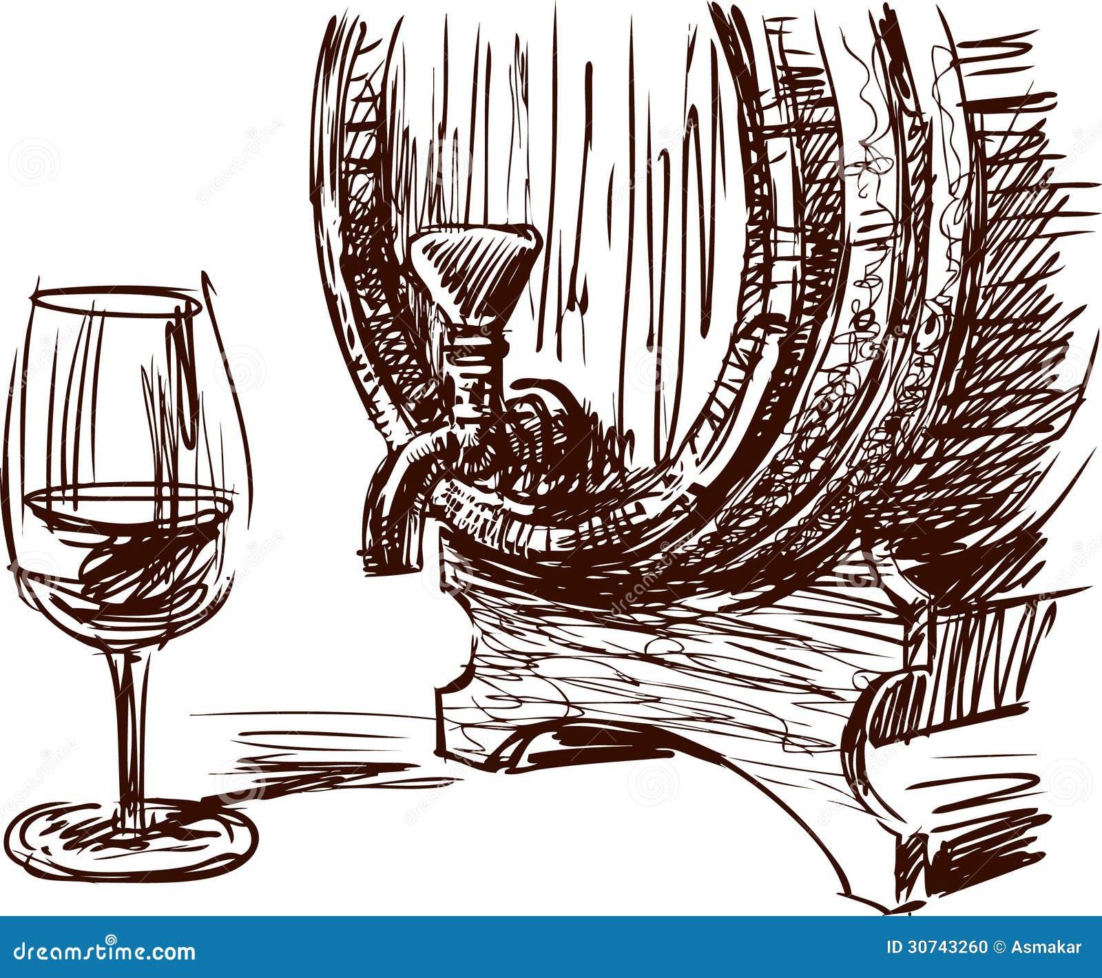 Barril y vidrio de vino foto de archivo imagen 30743260 - Barril de vino ...